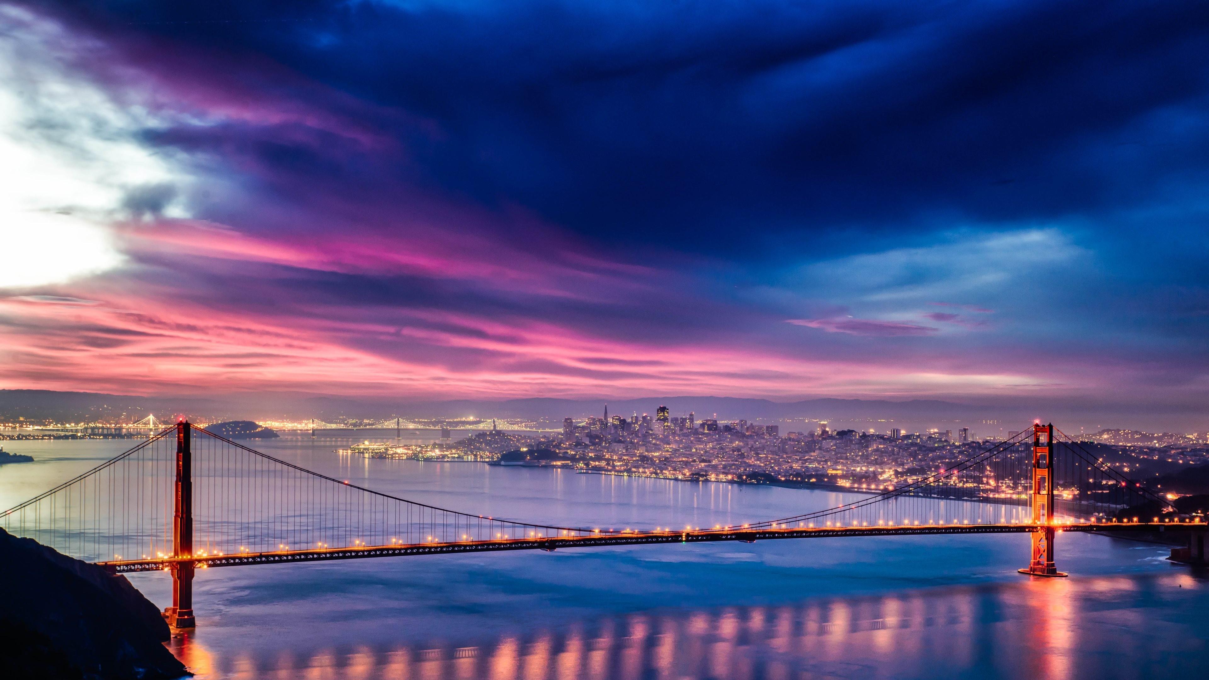 Evening Crossing, Bay Bridge, San Francisco, California  № 3721017  скачать