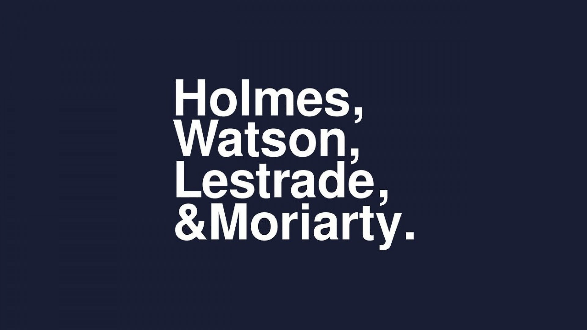 Sherlock ...
