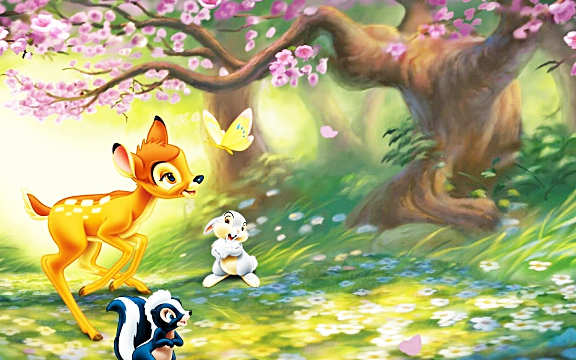 1920x1200 walt disney bambi cartoon hd wallpaper for android