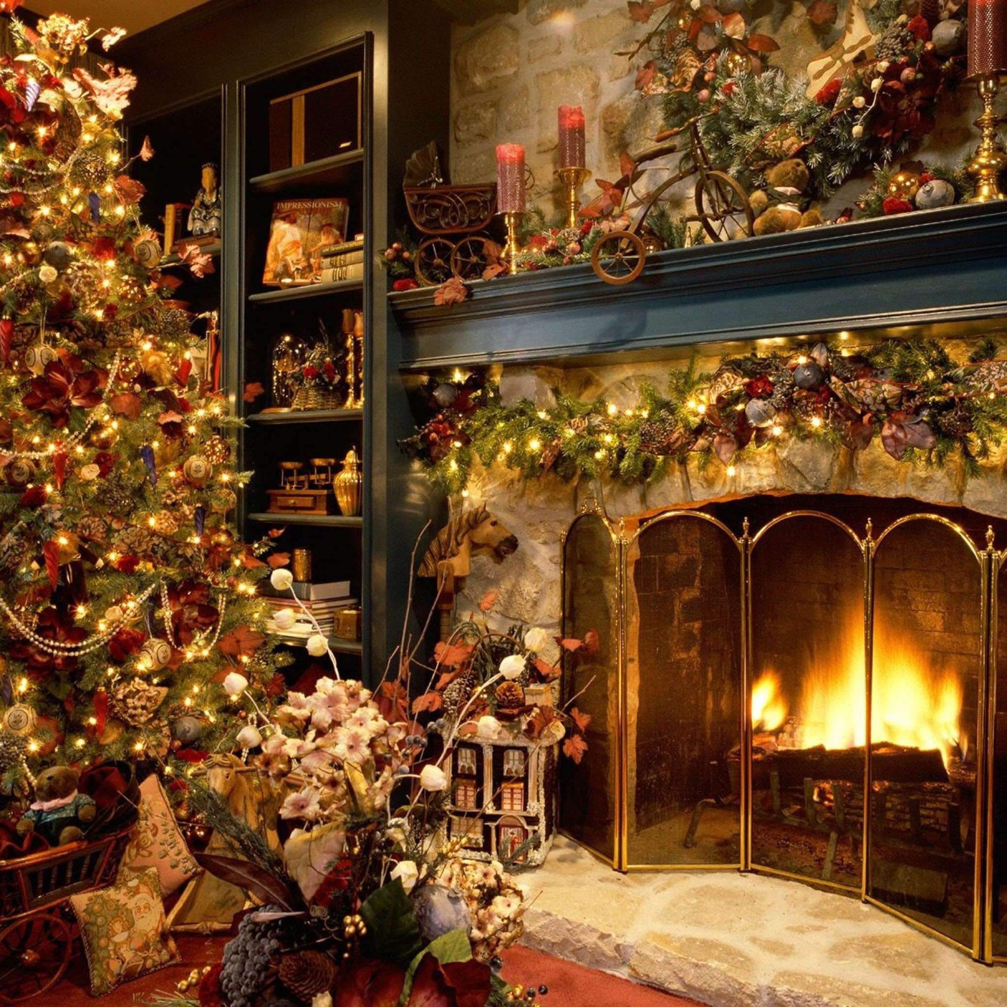 Victorian Christmas Wallpaper ·①