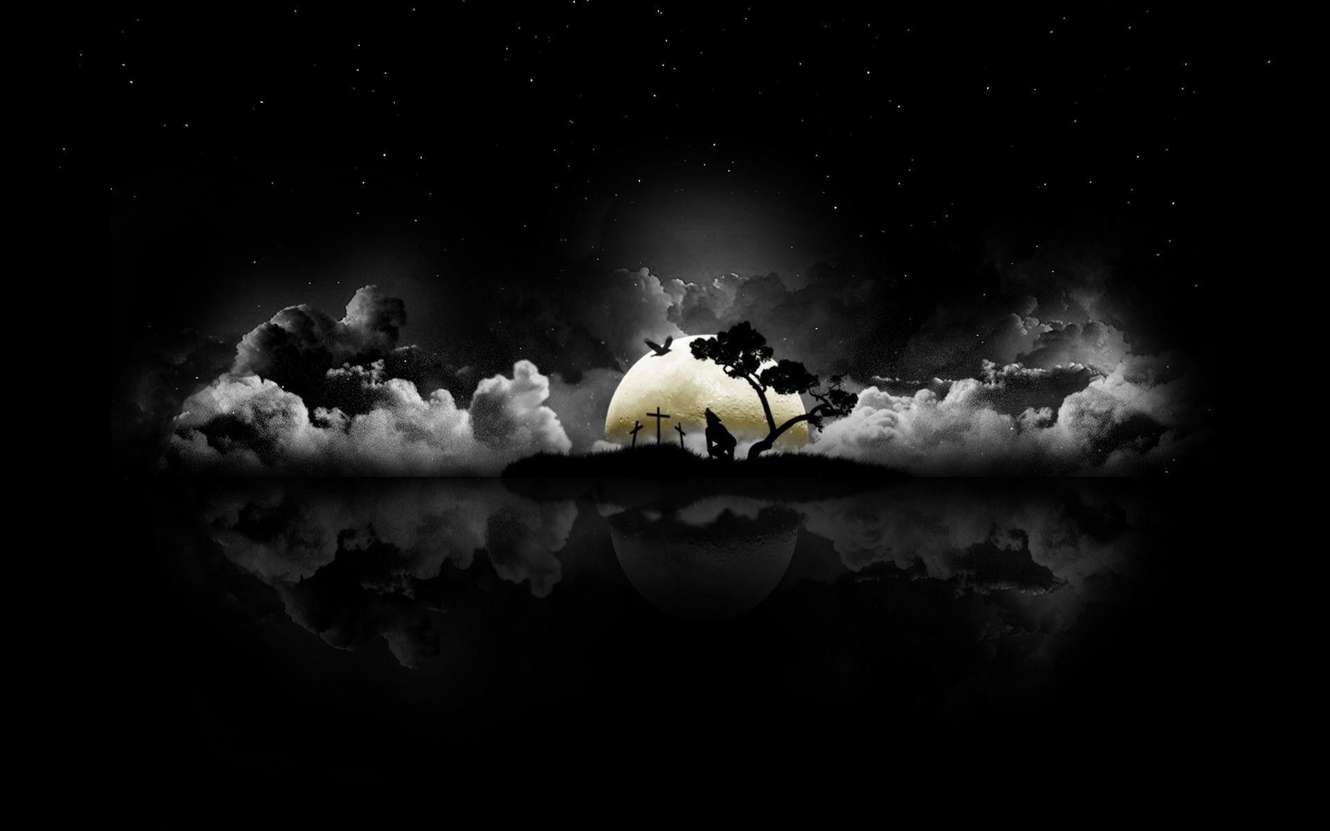 Anime Black Scenery Wallpaper - Anime Wallpaper HD