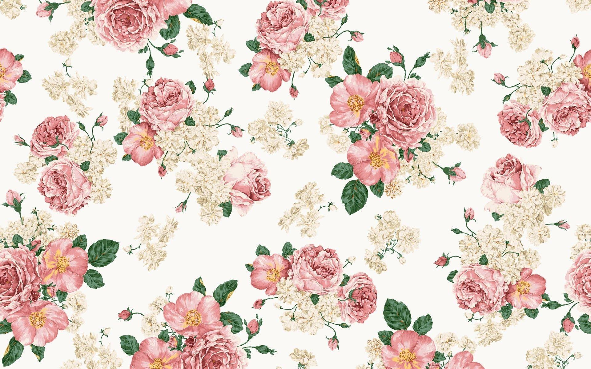 Watercolor Floral Desktop Wallpaper