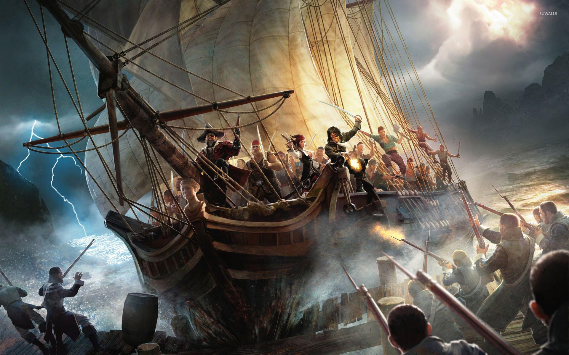 Pirate ship wallpapers wallpapertag - Anime pirate wallpaper ...