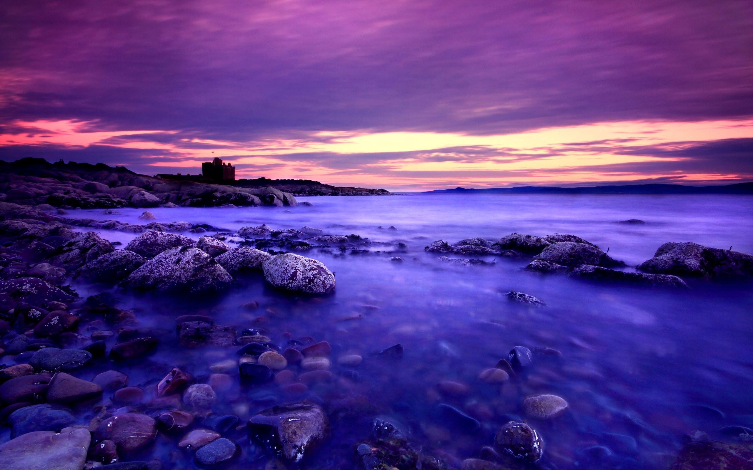картинки фиолетовый пейзаж делают
