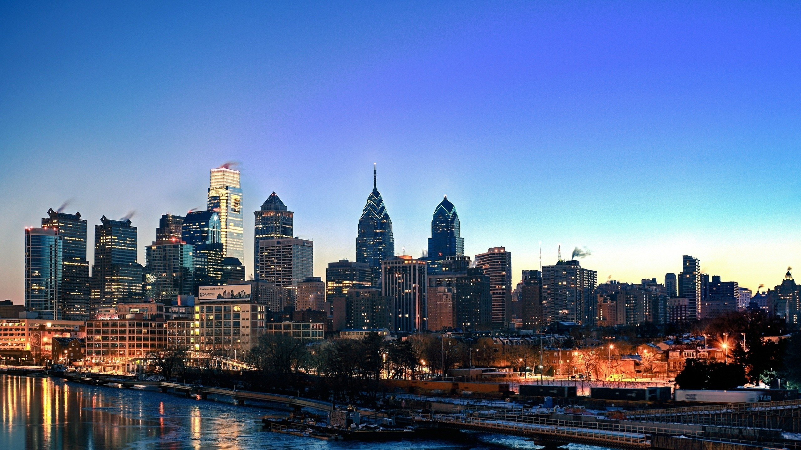 philadelphia skyline wallpaper ·①