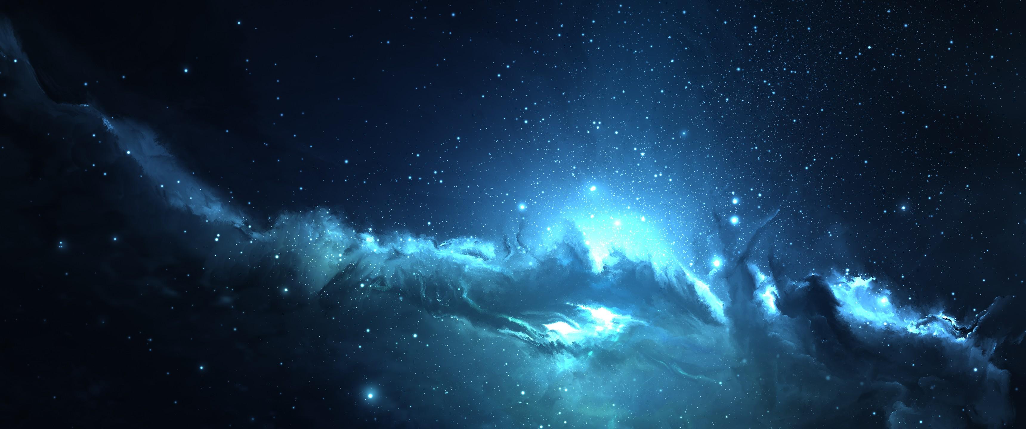 Ultra wide wallpaper download free beautiful full hd - Blue space hd ...