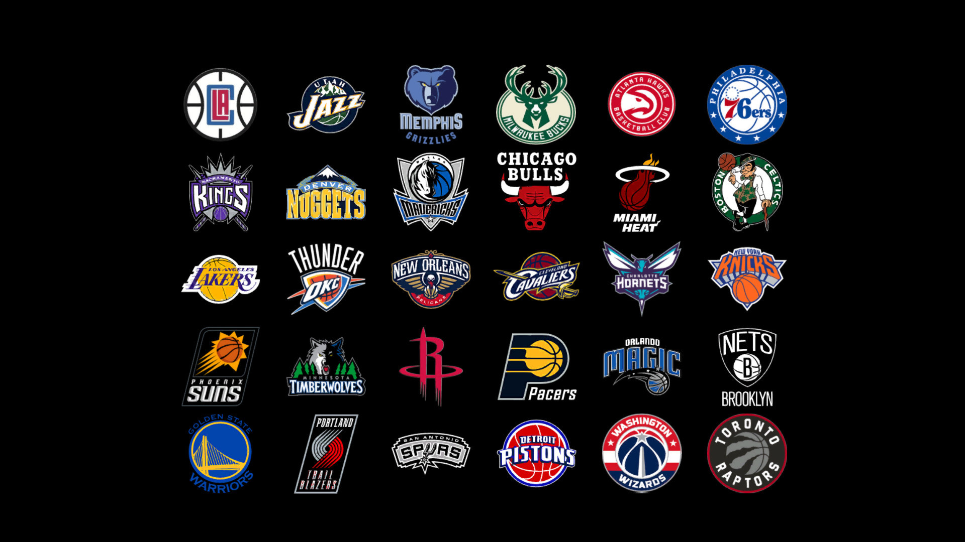 NBA Team Logos Wallpaper 2018 1