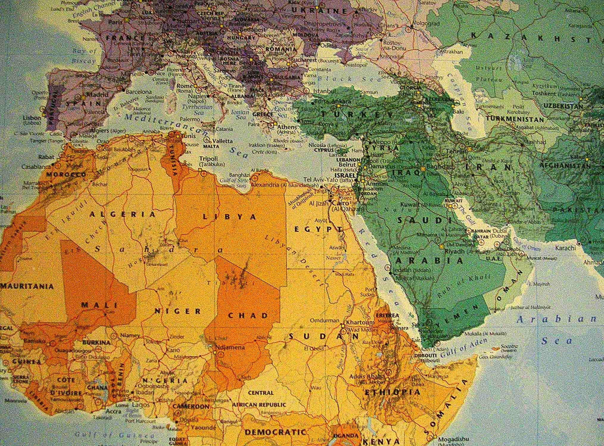 2028x1500 World Map Wallpaper With Countries Download Published