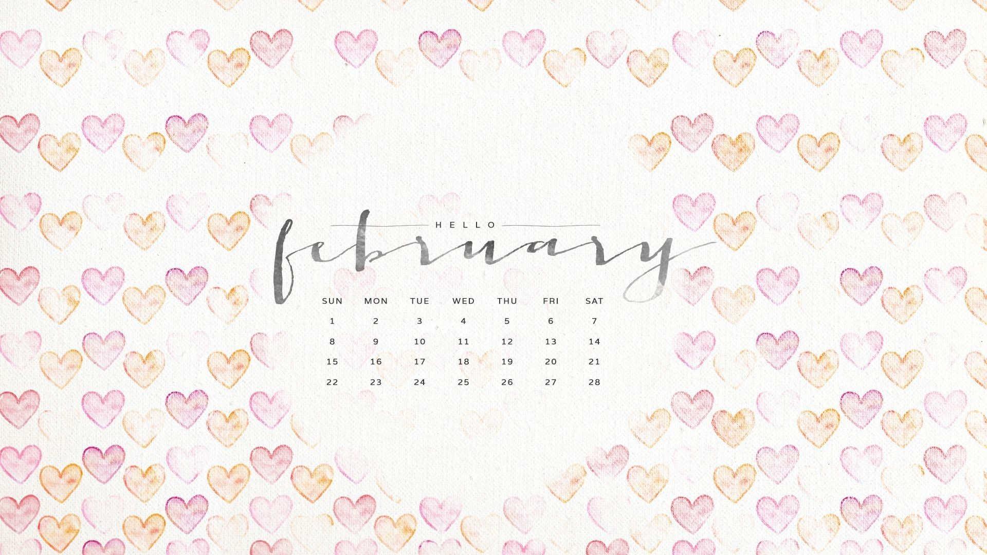 Desktop Wallpapers Calendar February 2018 183 ①