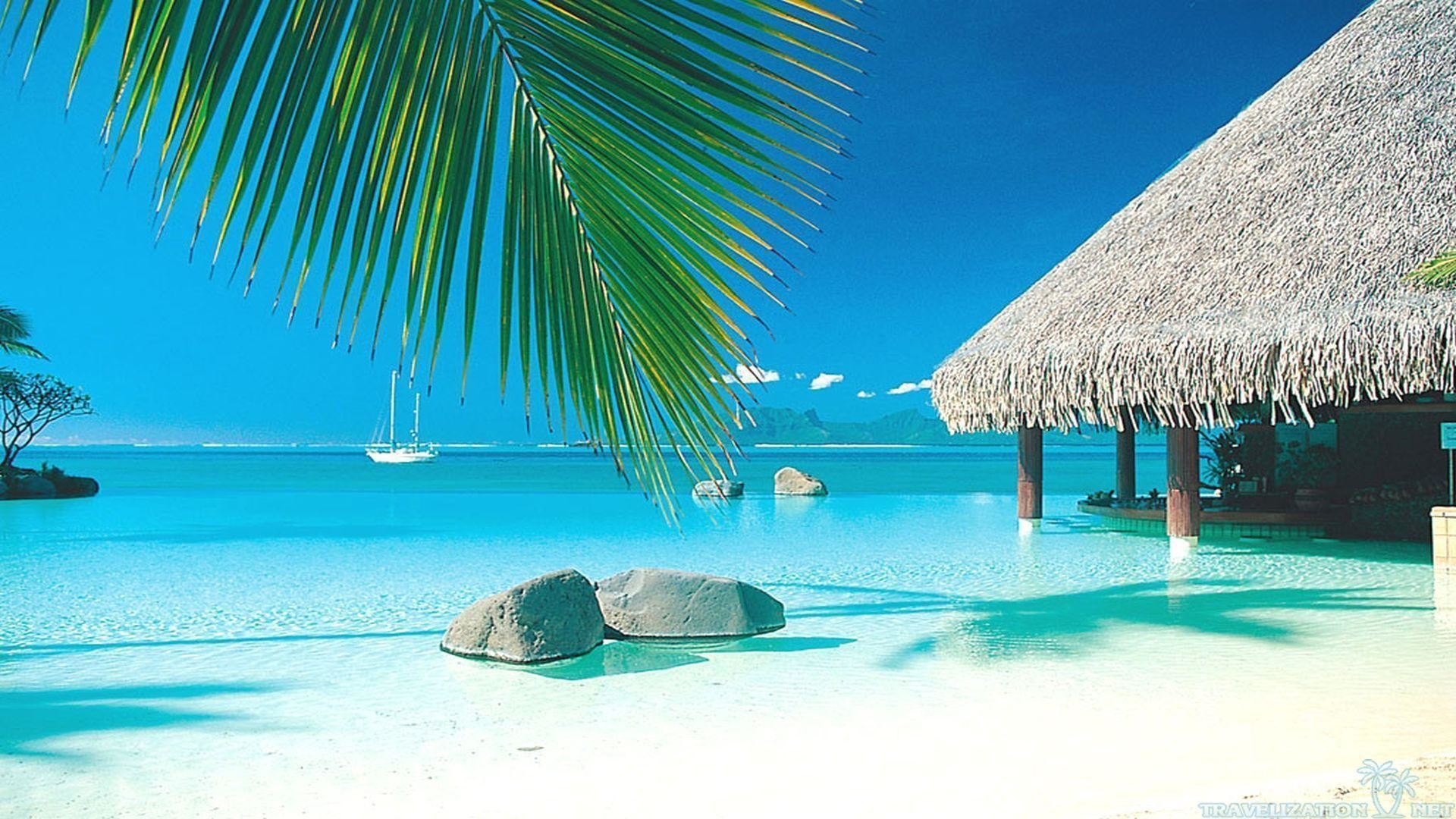Hd Tropical Island Beach Paradise Wallpapers And Backgrounds: Beach Paradise Wallpaper ·① WallpaperTag
