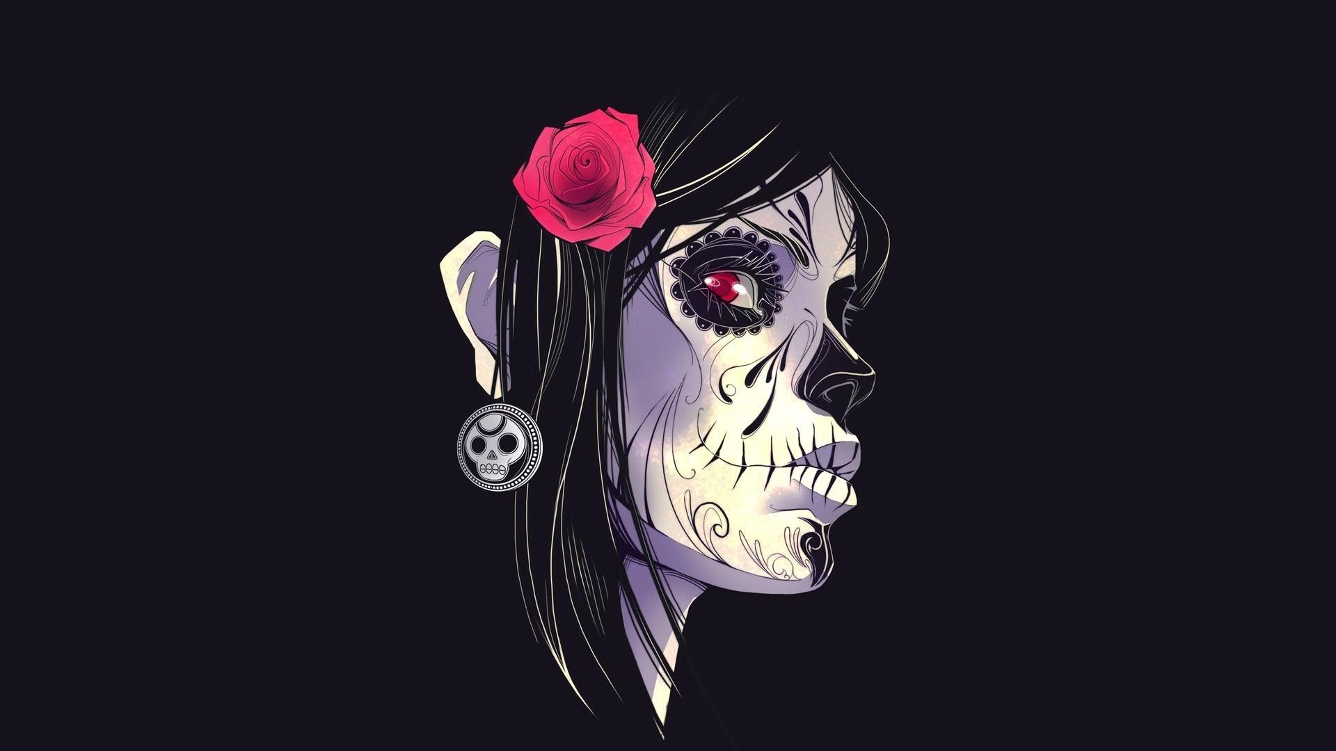Gothic skulls wallpaper wallpapertag - M r love wallpaper ...