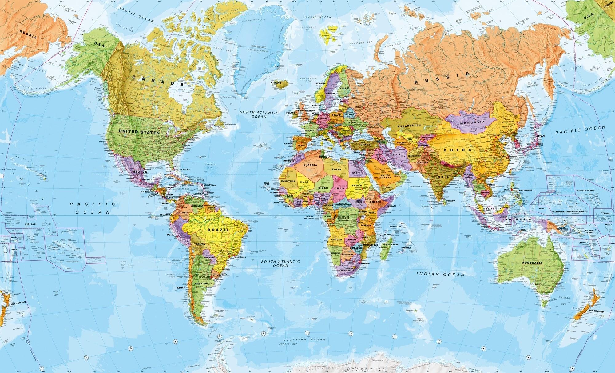 World Map Desktop Wallpaper ·① WallpaperTag