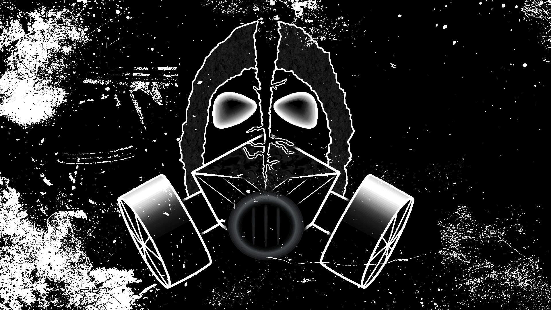 dubstep gas mask wallpaper 183��