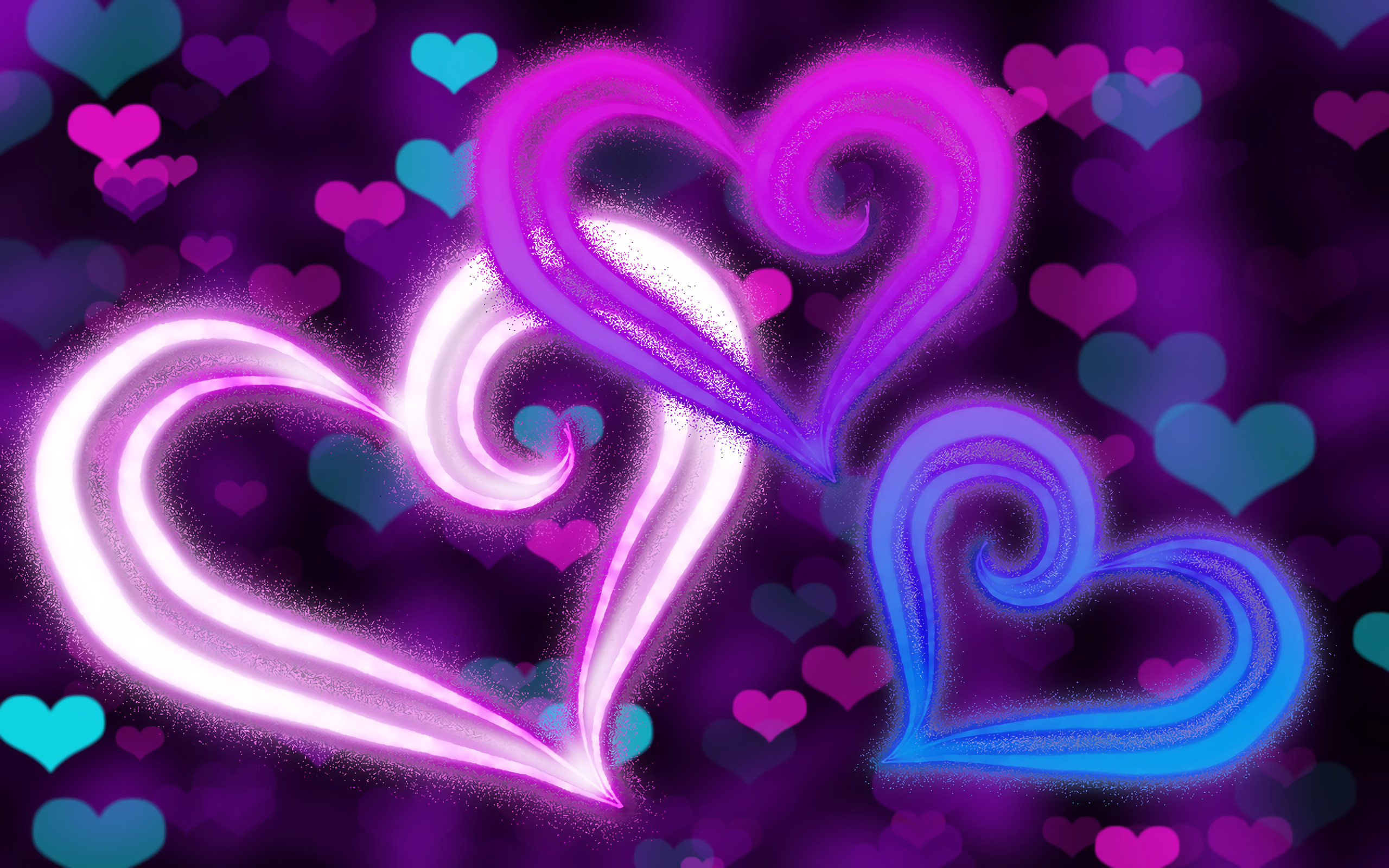 Purple Hearts Background ·① WallpaperTag