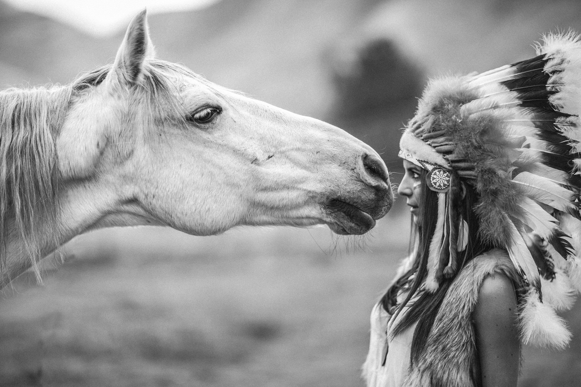 1920x1280 native american girl horse desktop background