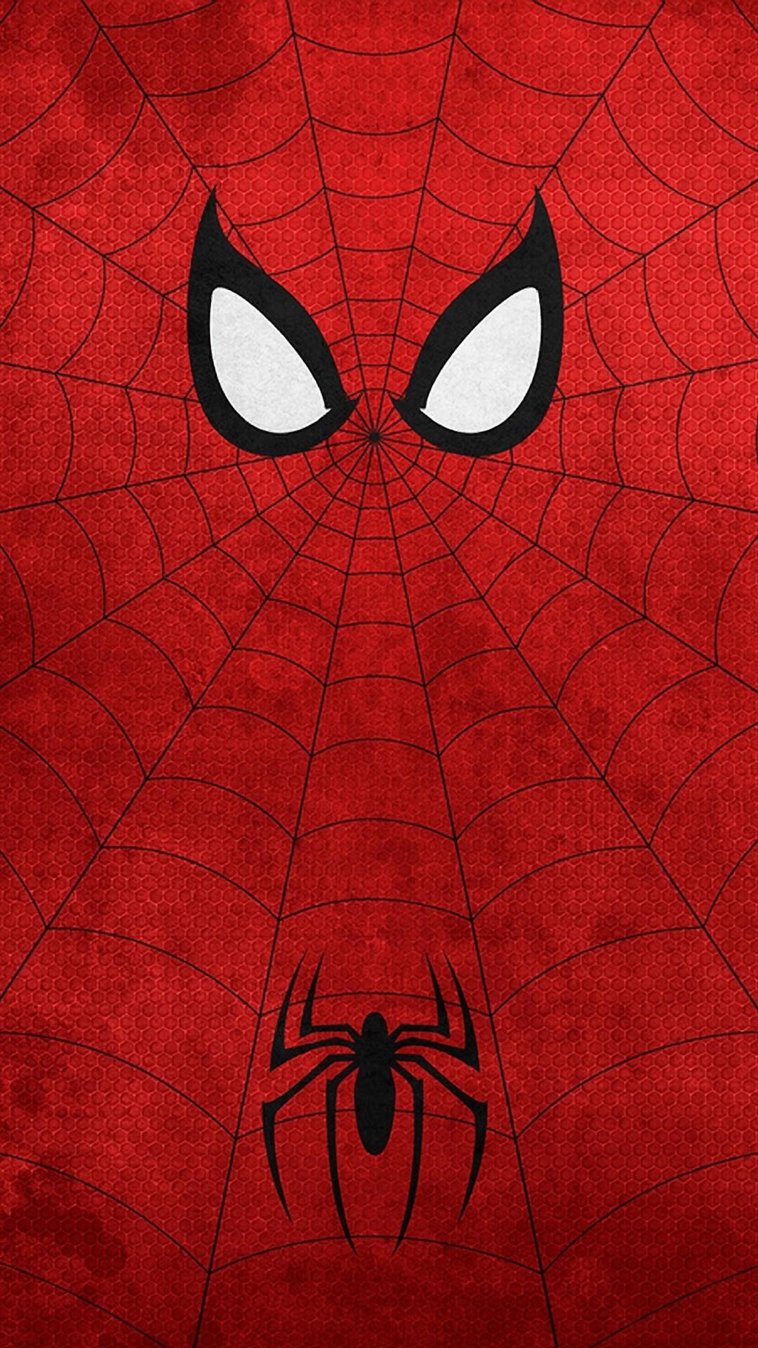 Spiderman Neon Red Wallpaper