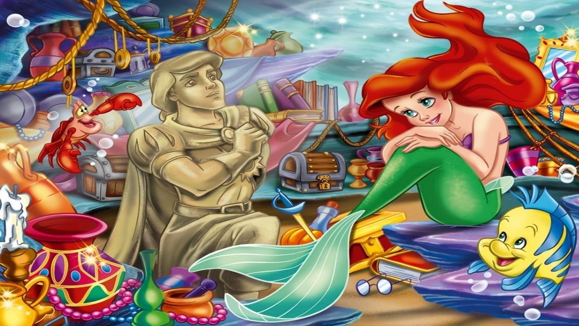 Little Mermaid background ·① Download free stunning full ...