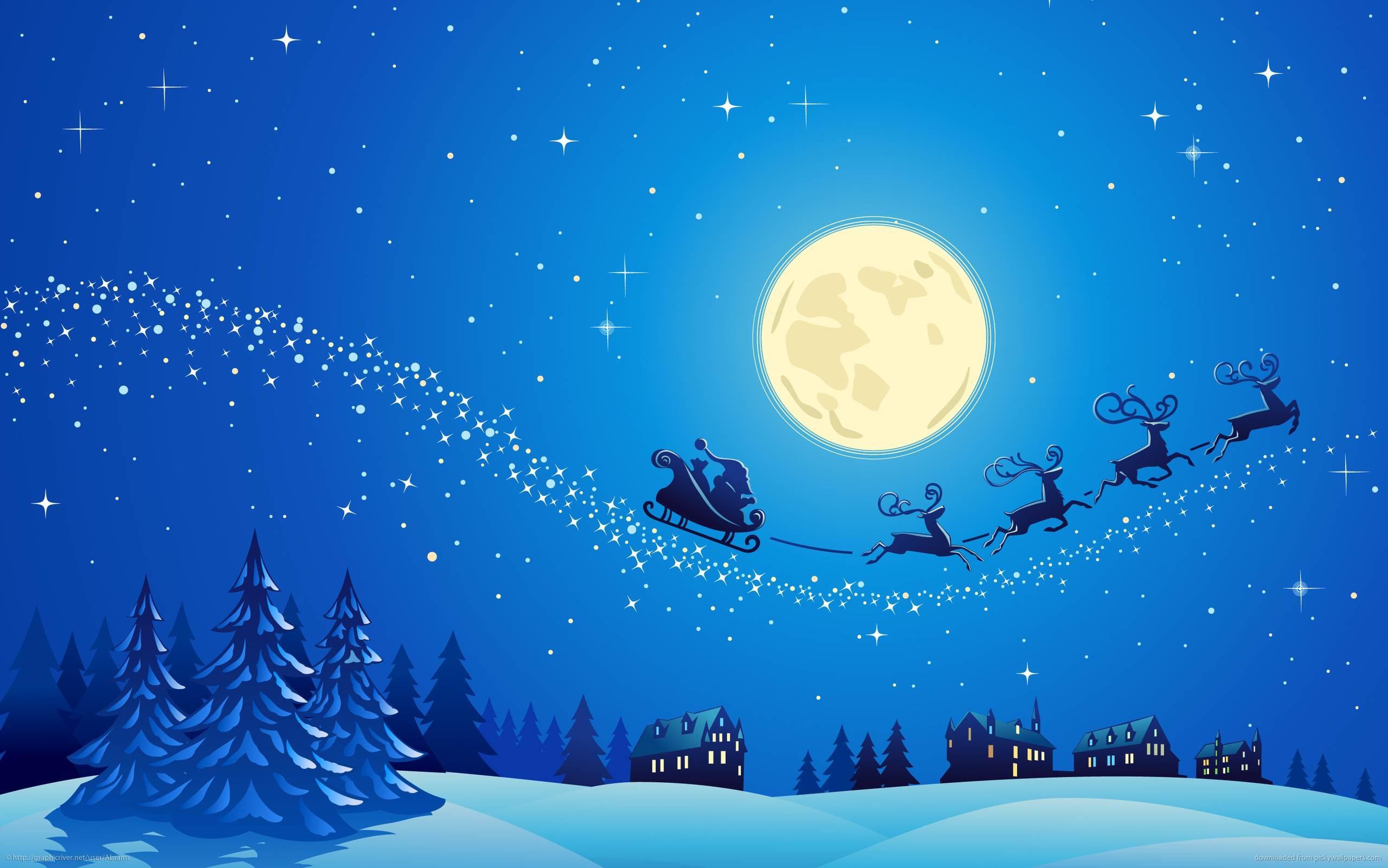 Christmas Hd Wallpaper.Christmas Night Wallpaper Wallpapertag