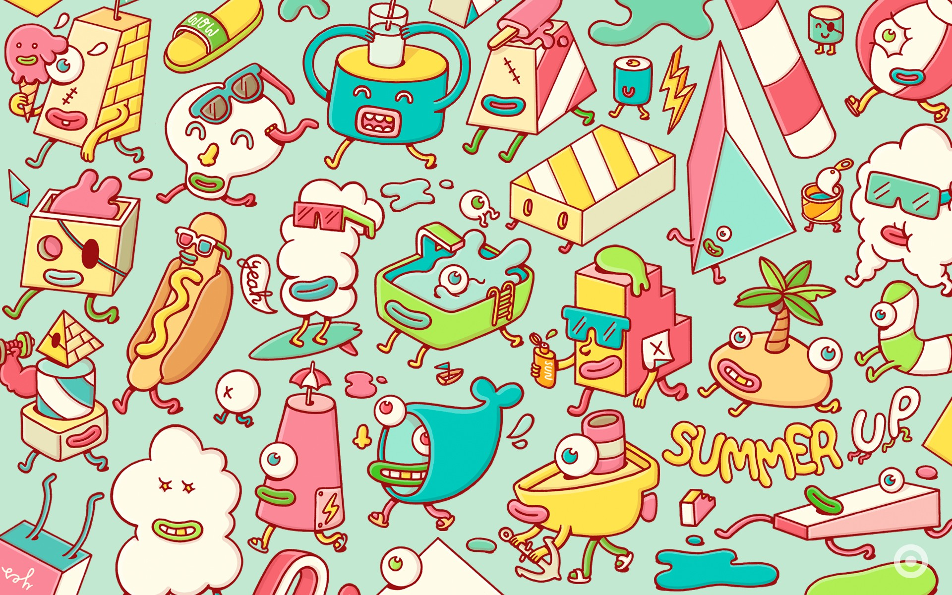 Kawaii background download free amazing backgrounds for - Doodle desktop wallpaper ...