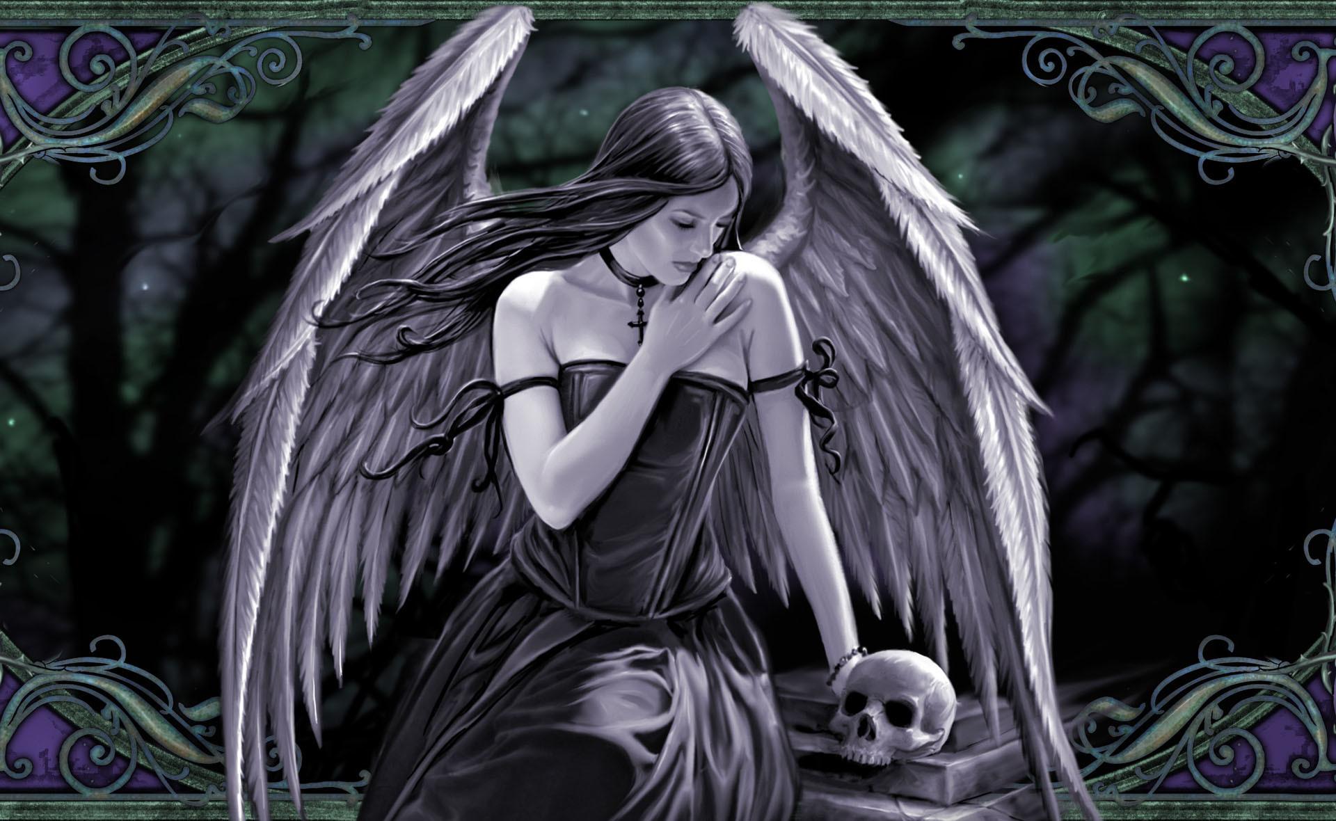 Gothic skulls wallpaper wallpapertag - Dark gothic angel wallpaper ...