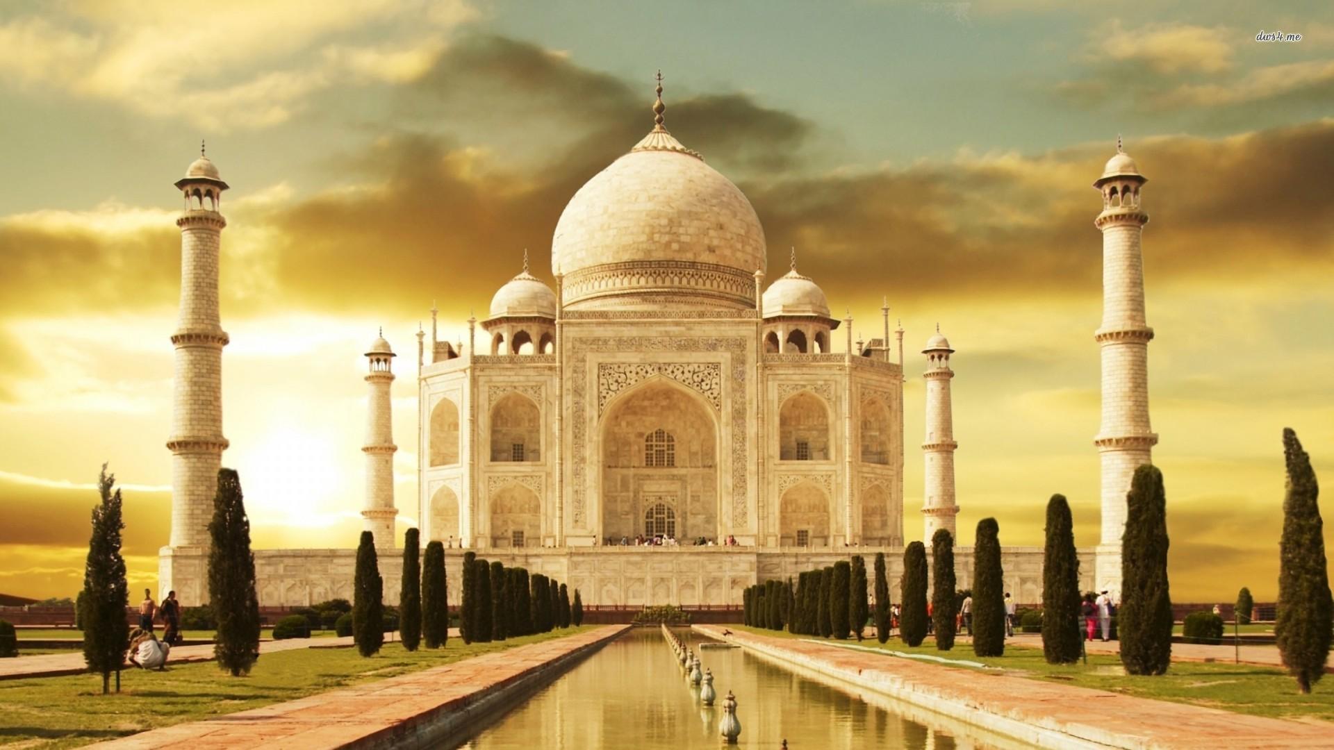 Taj Mahal At Night Wallpaper 3d ①