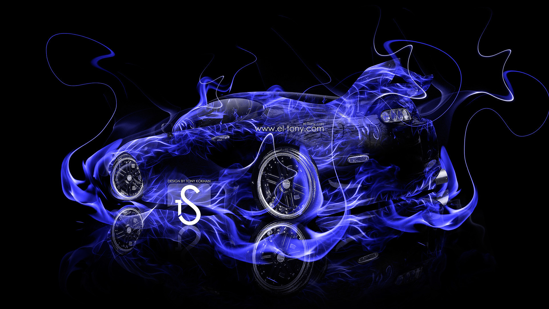 Cool Blue Fire Wallpapers 1