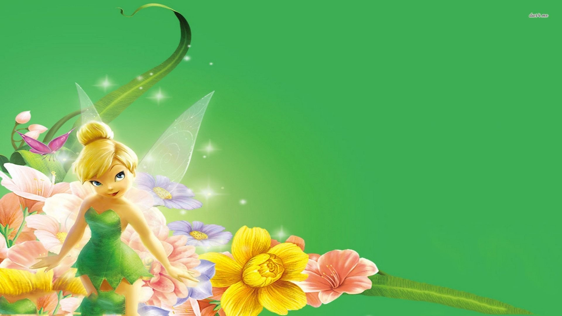 Tinkerbell background 1920x1080 tinkerbell wall stickers ebay amipublicfo Images