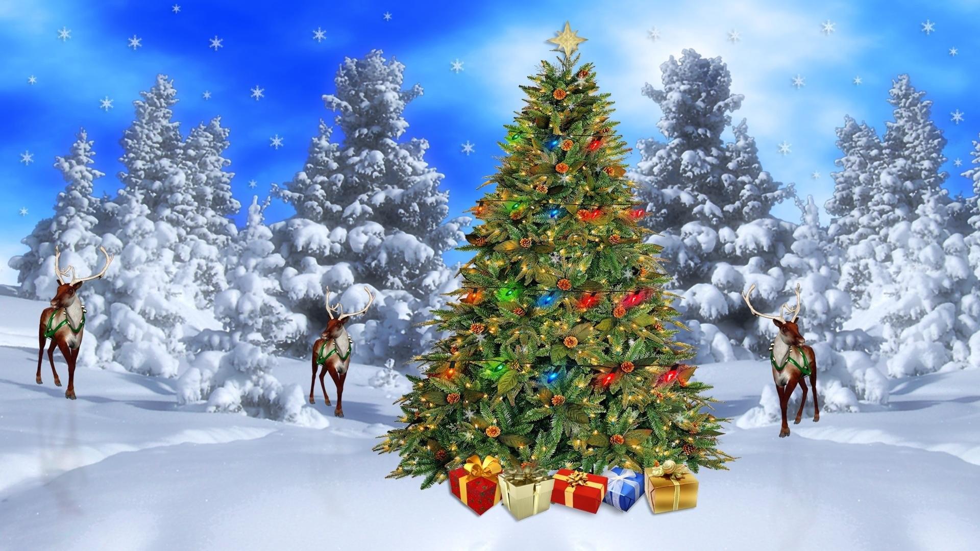 1920x1080 christmas scene download standard