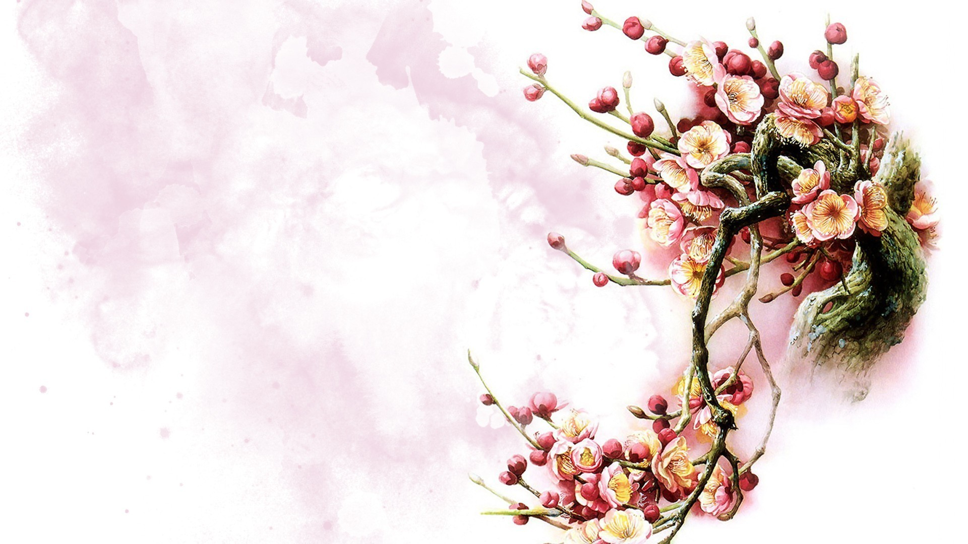 flower painting watercolor wallpaper - photo #42