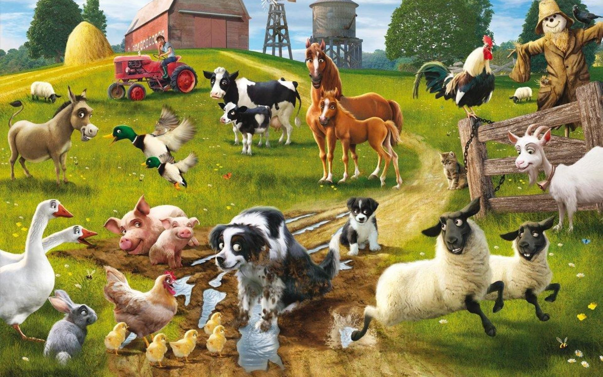 farm animals wallpaper ·①