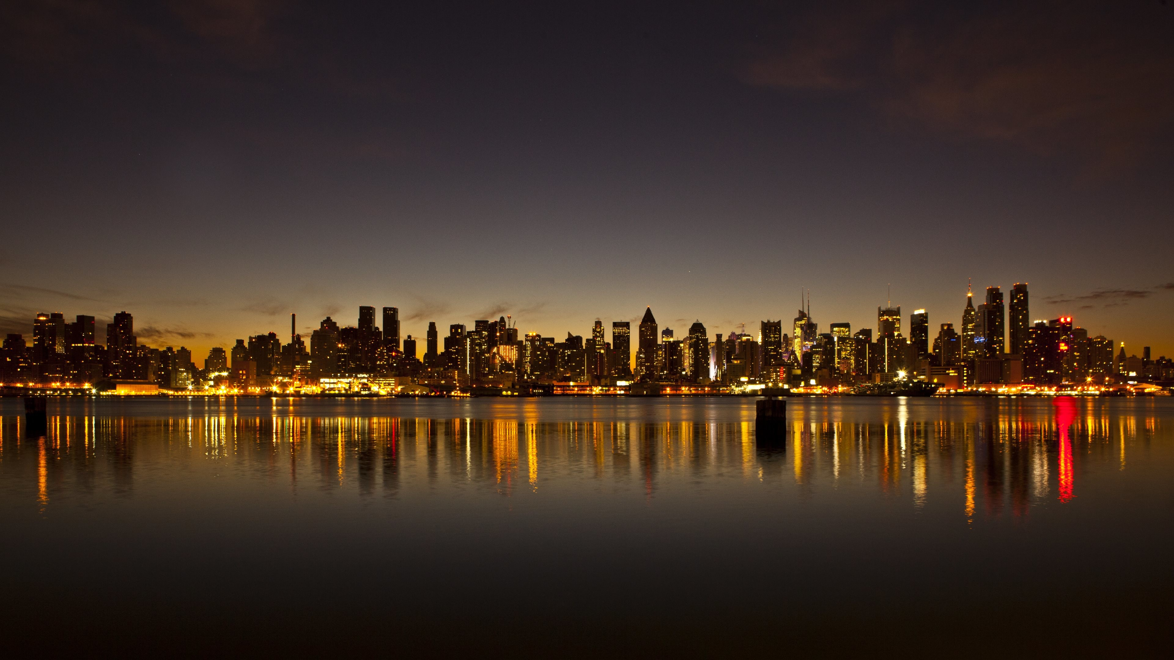 Detroit skyline wallpaper wallpapertag - New york skyline computer wallpaper ...