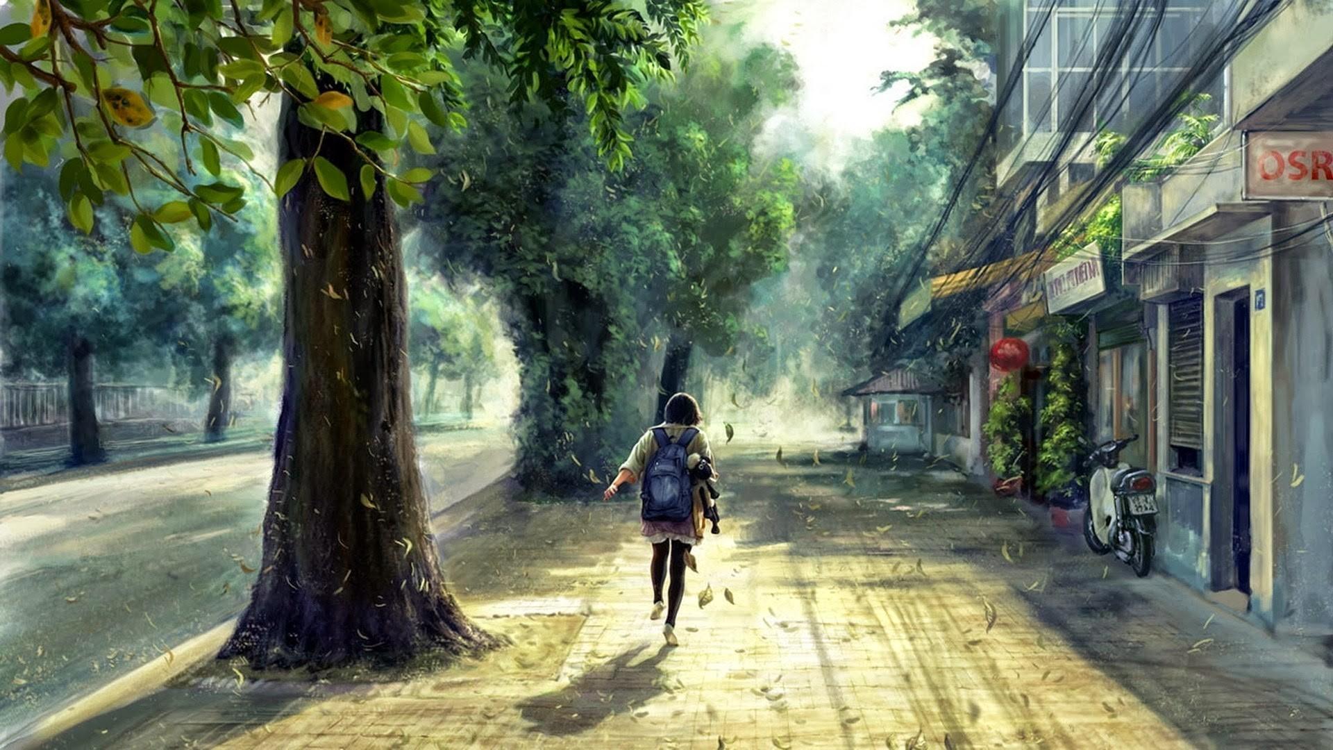 Dark Anime Scenery Wallpaper Download Free Stunning High