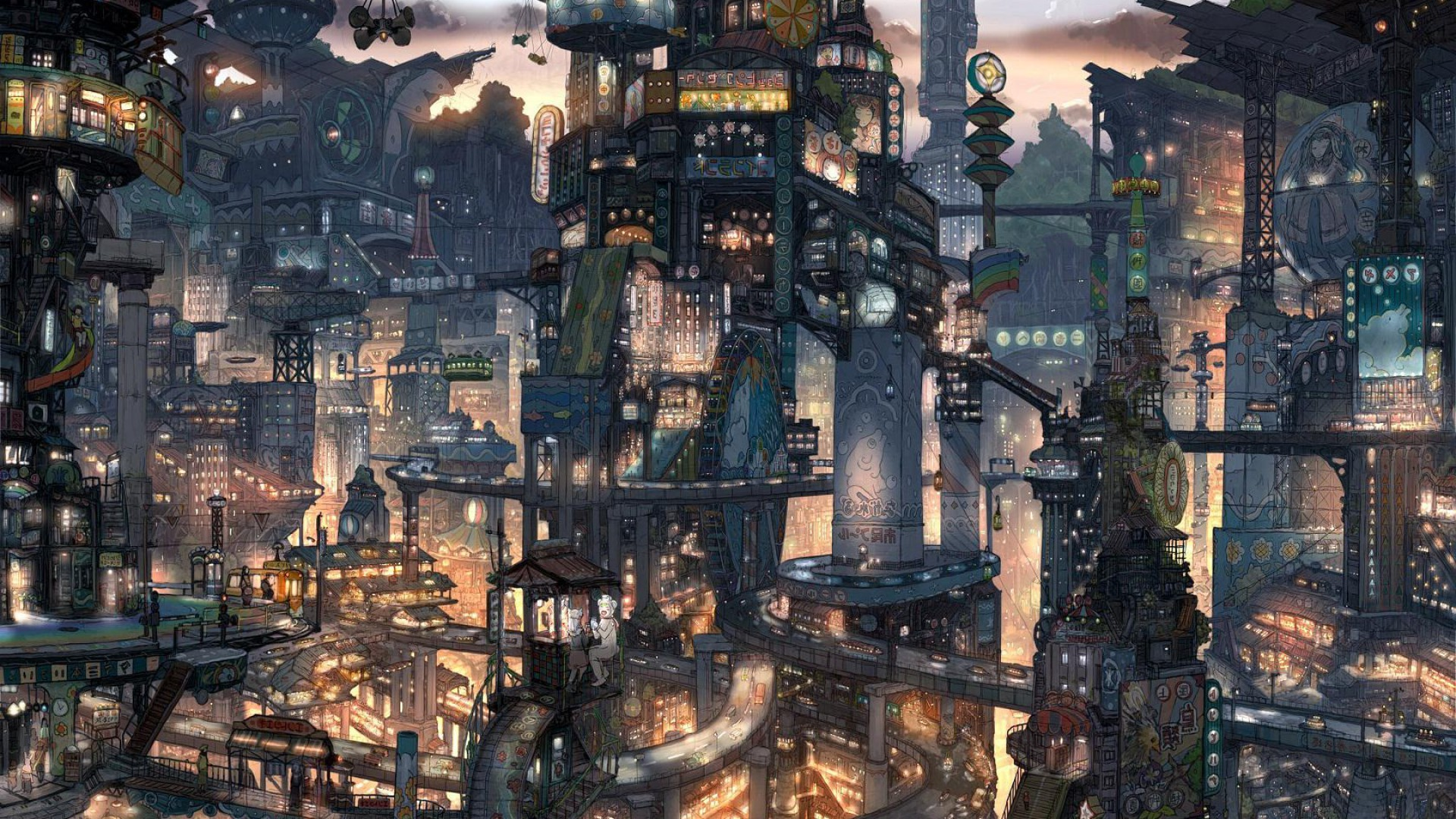 Anime City Wallpaper Download Free Beautiful Wallpapers
