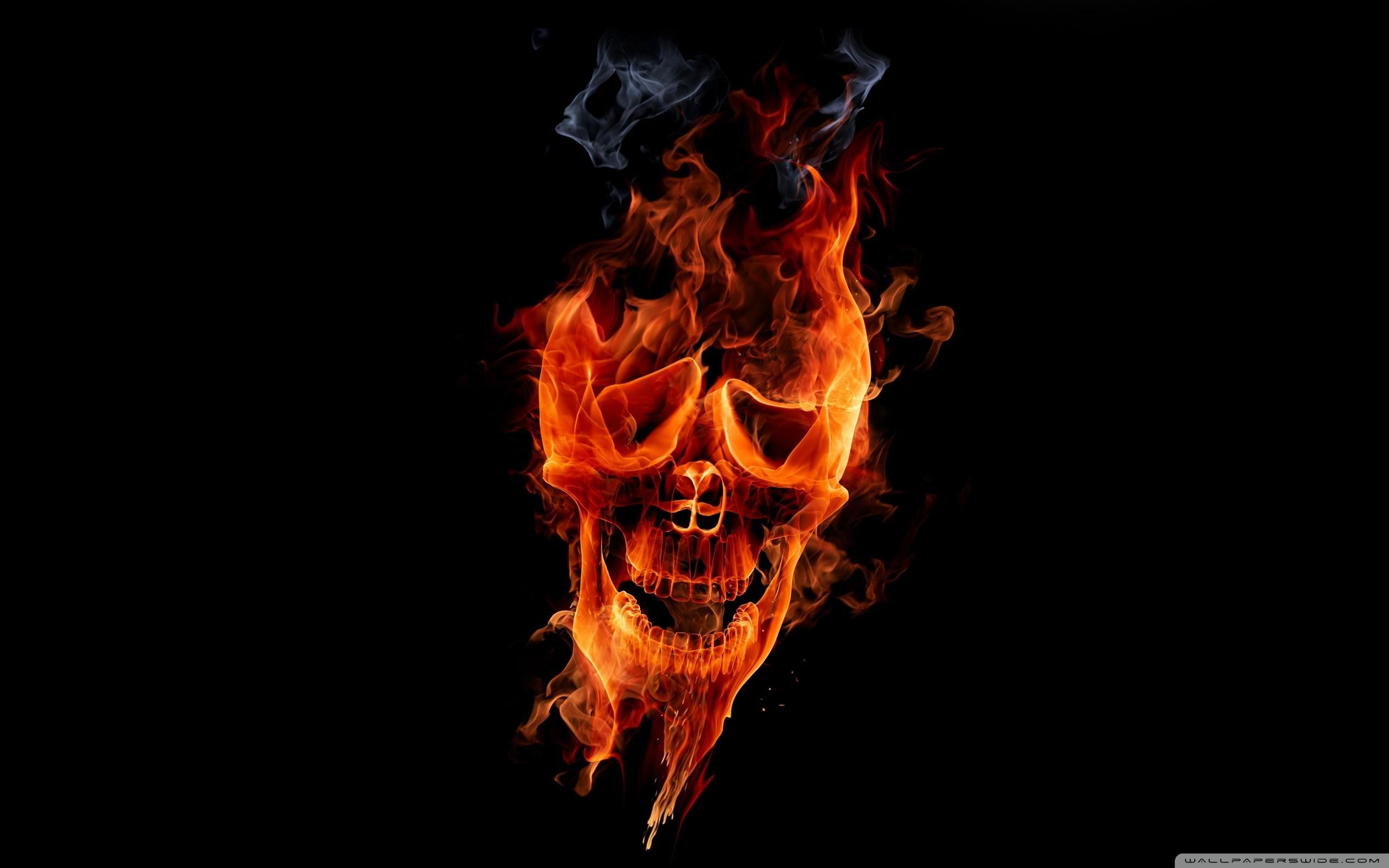 1920x1080 Fire Skull Wallpaper Free Download HQ WALLPAPER