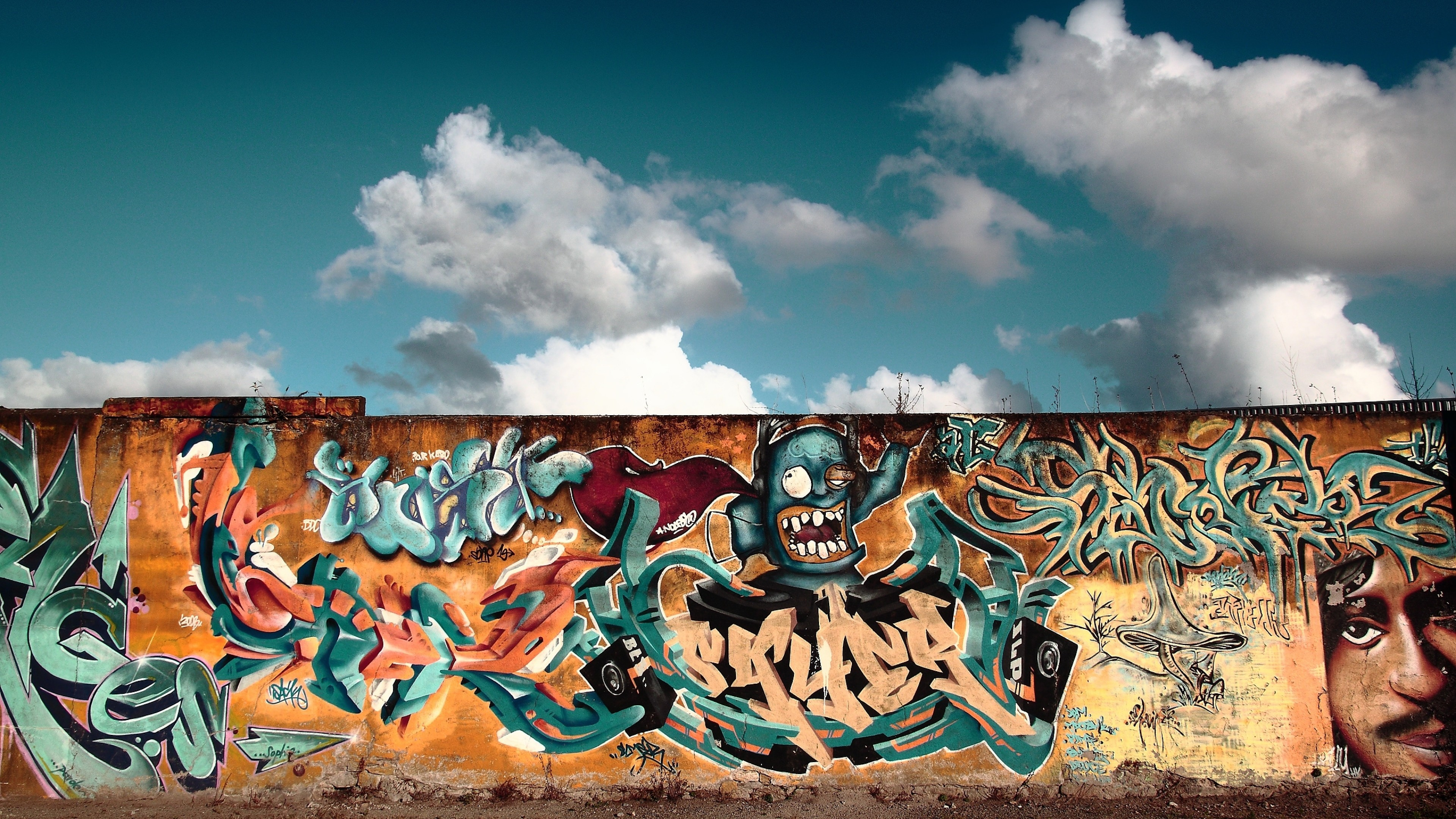 49 graffiti backgrounds download free amazing wallpapers for 3840x2160 preview wallpaper graffiti wall city colorful 3840x2160 voltagebd Image collections