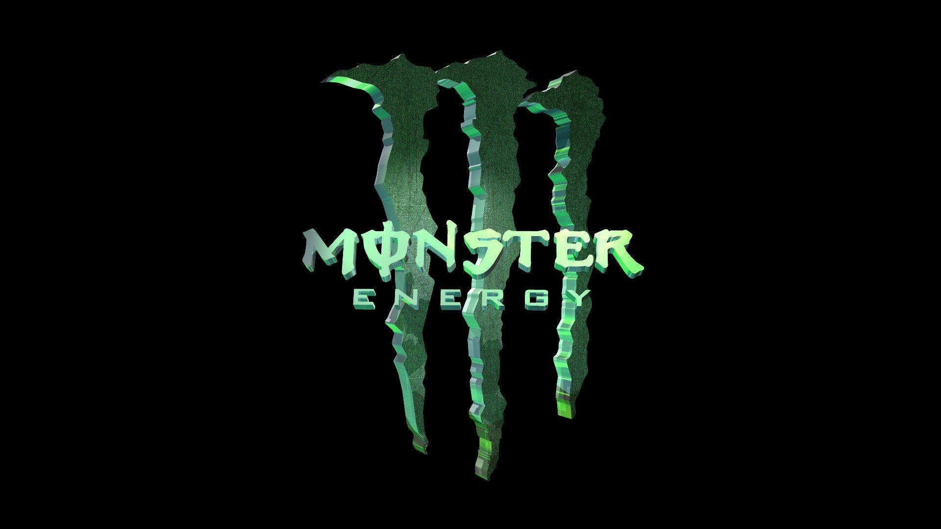 1920x1080 Awesome 3D Monster Energy Logo Wallpaper Wallpaper