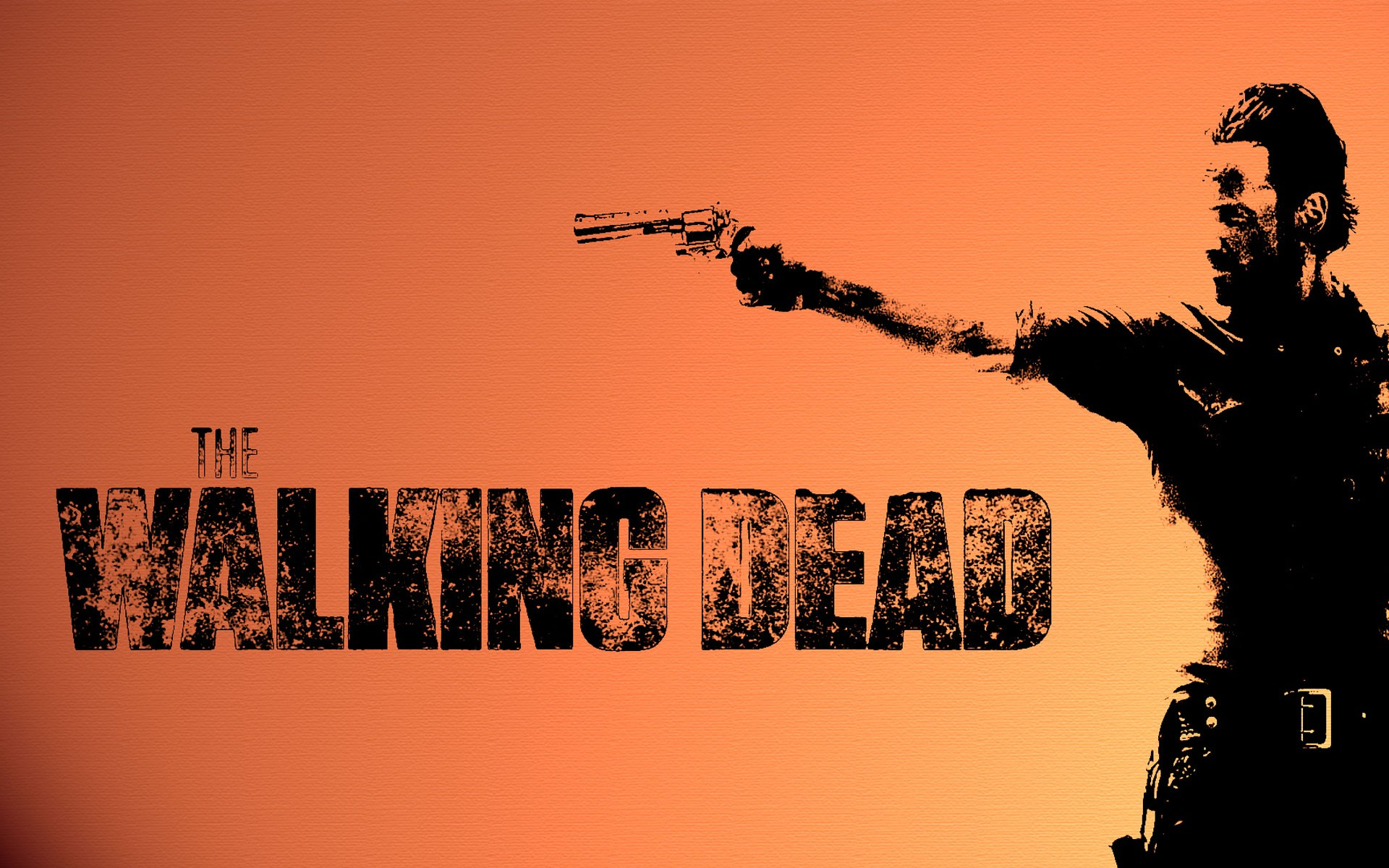 Walking dead wallpaper download free amazing full hd 1920x1200 the walking dead televion zombies weapons guns wallpaper background voltagebd Choice Image