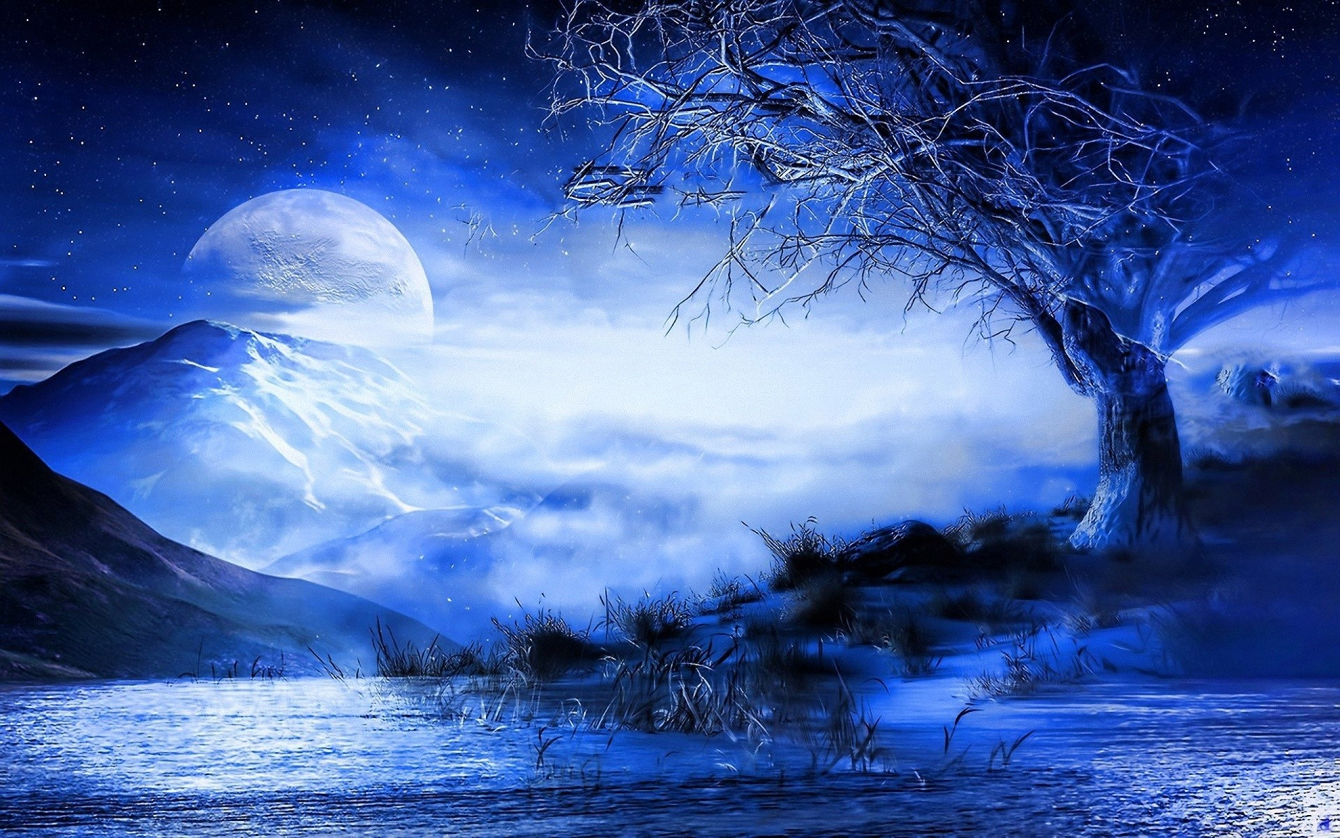 blue moon wallpaper 183��