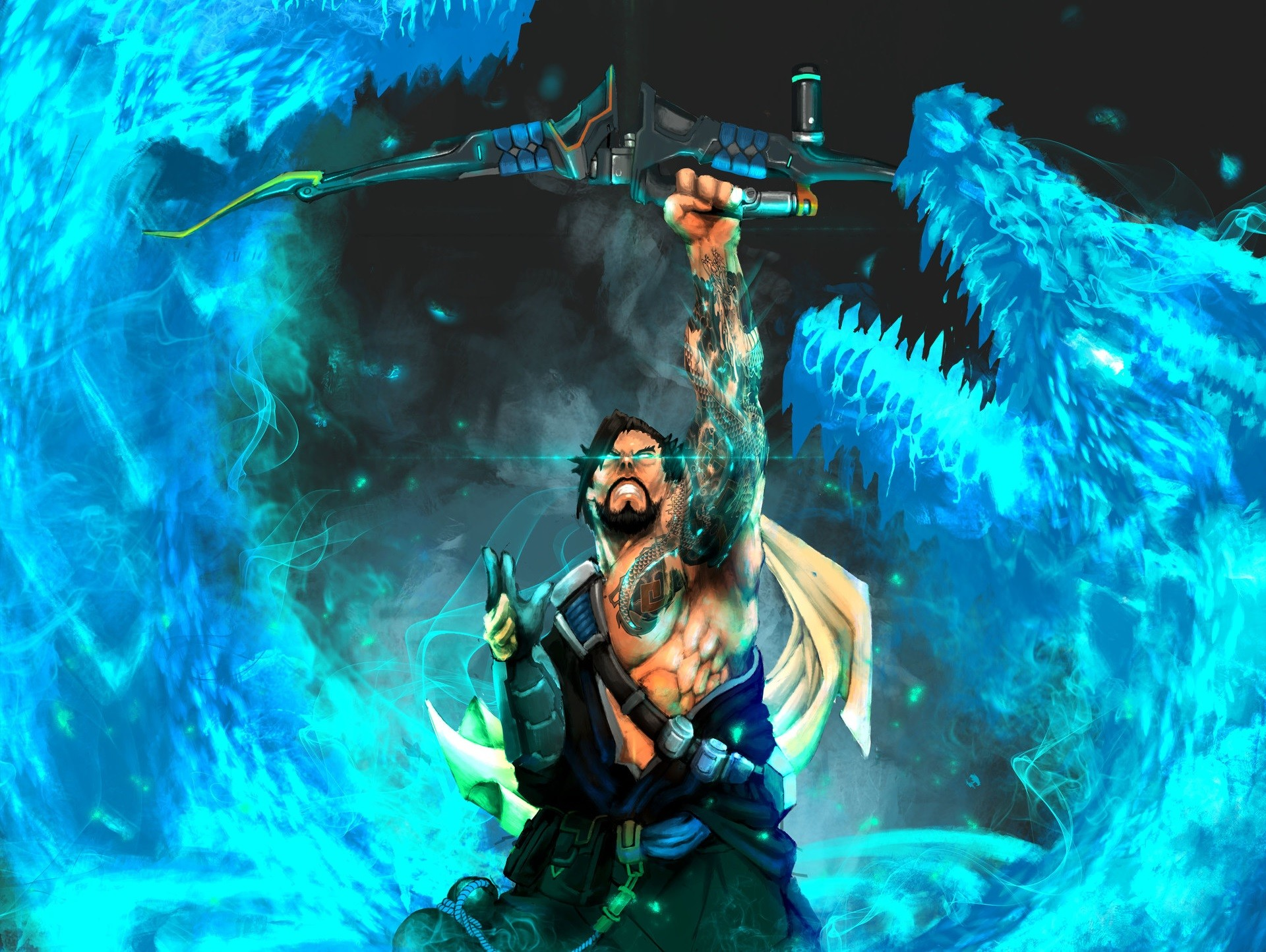 Overwatch Wallpaper 1080p Download Free Cool High: Overwatch Hanzo Wallpaper ·① Download Free Amazing