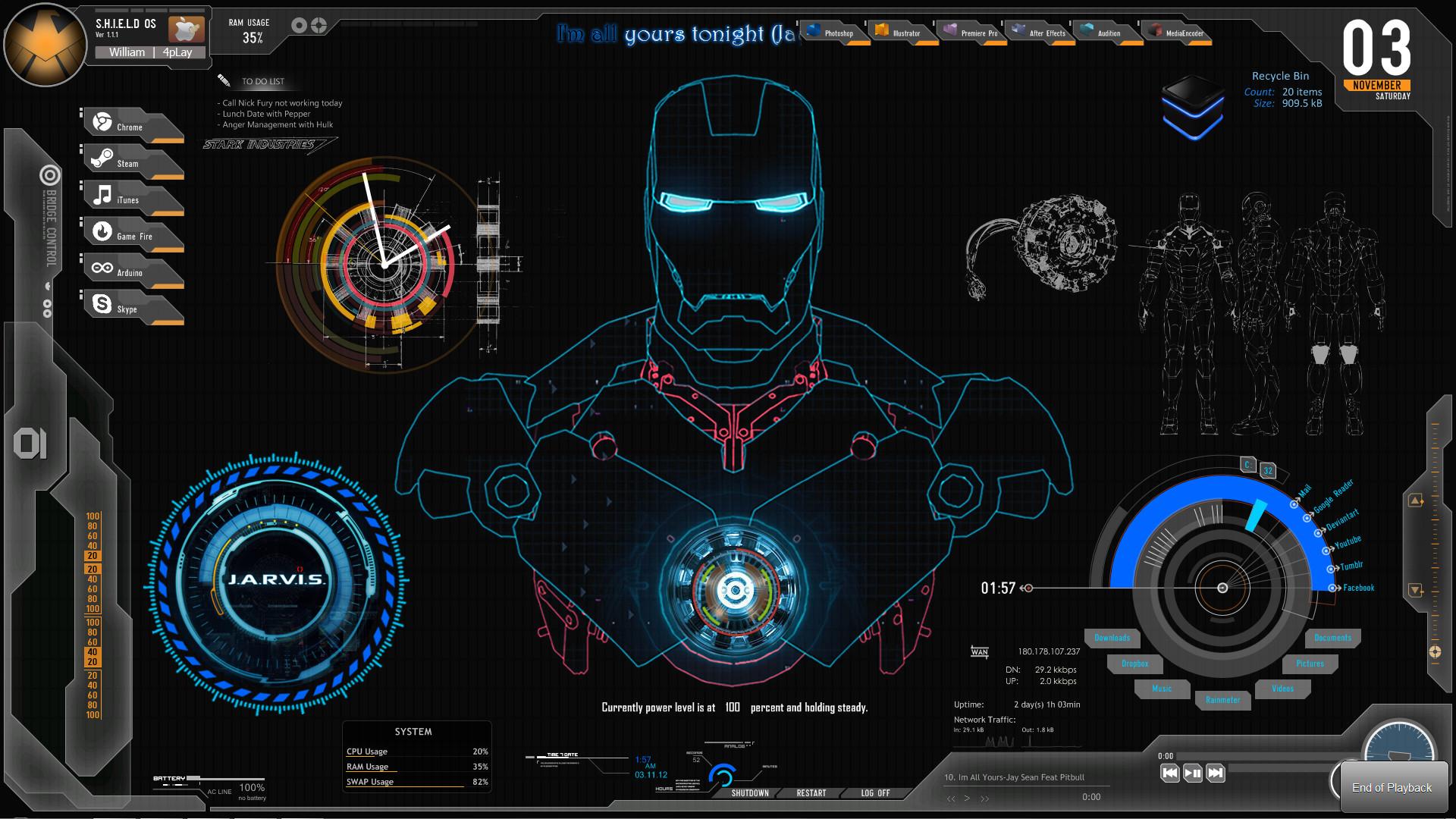 Iron Man Jarvis Wallpapers ·① WallpaperTag