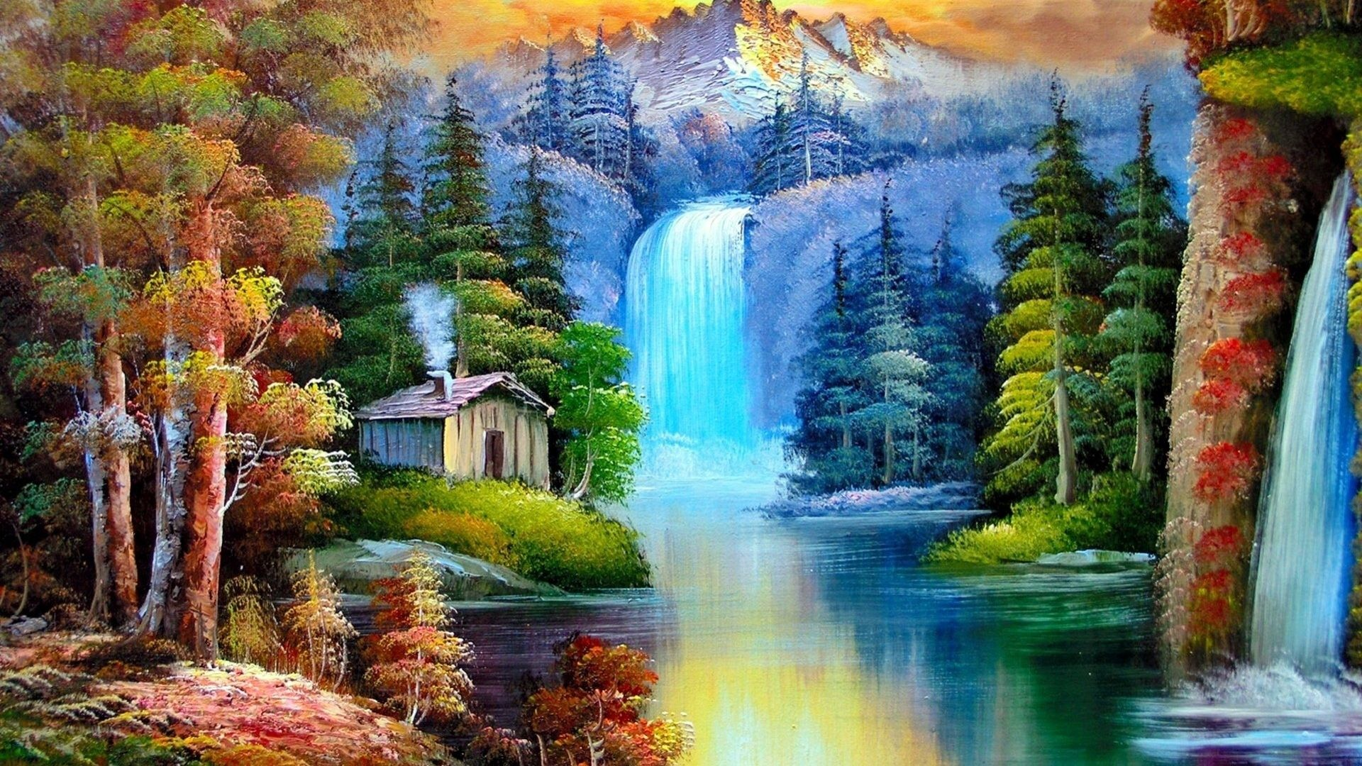 Waterfall desktop wallpaper wallpapertag - Nature wallpaper of waterfall ...