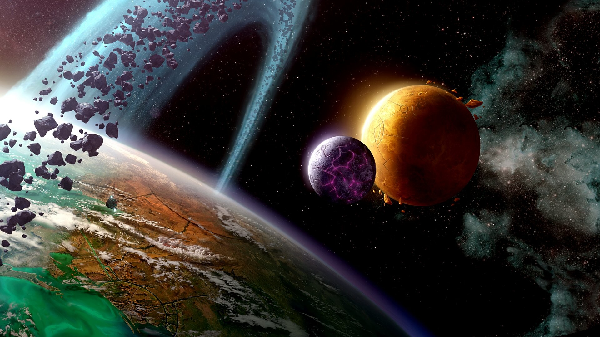 Space Planets Wallpaper ·① WallpaperTag