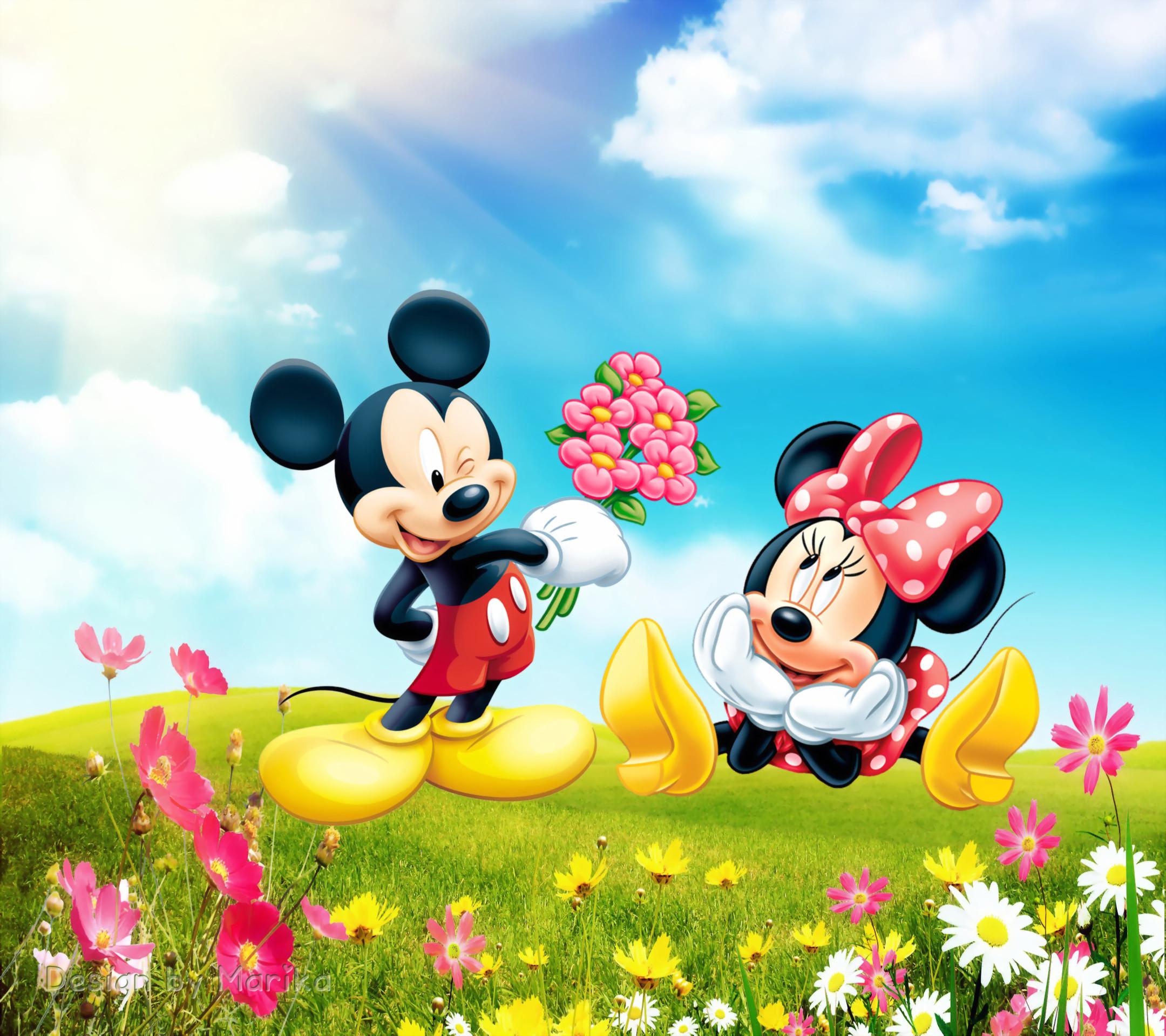Mickey and minnie wallpaper - Minni et mickey ...