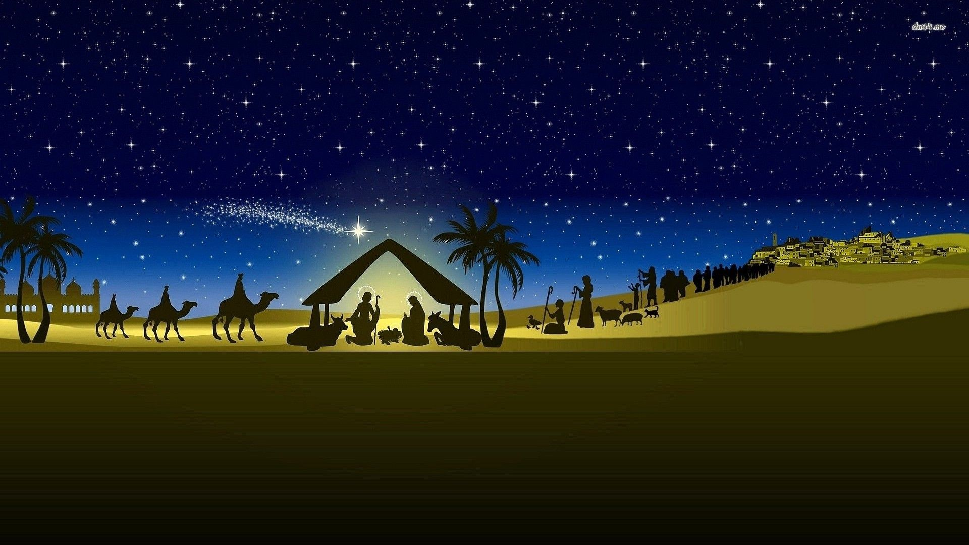 Christmas For Iphone Wallpaper: Christmas Nativity Scene Wallpaper ·① Download Free HD