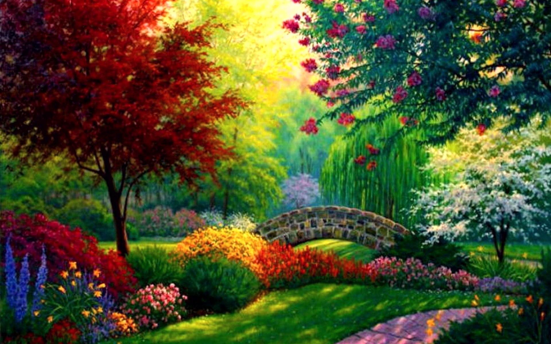 Красочные картинки пейзажи