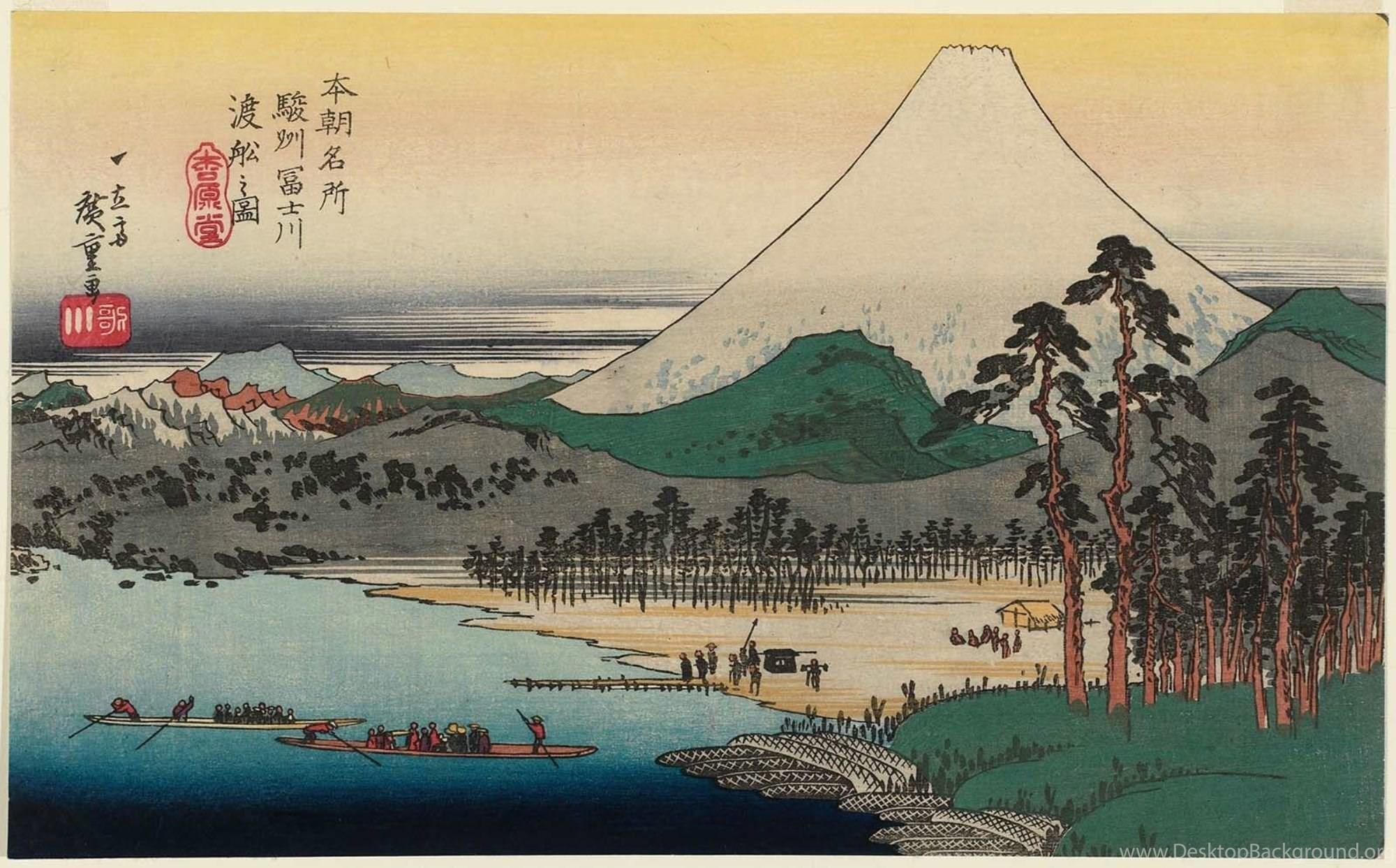Famous Fuji Mountain Painting