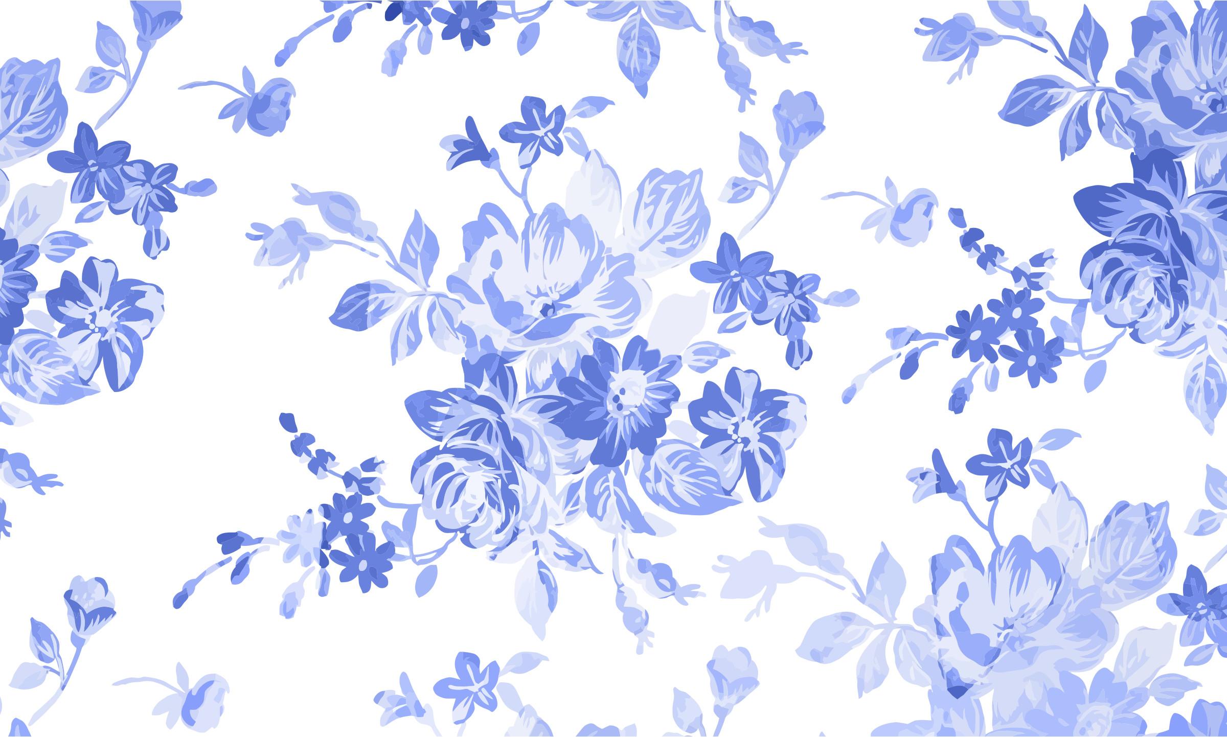 Blue Floral Background Wallpapertag