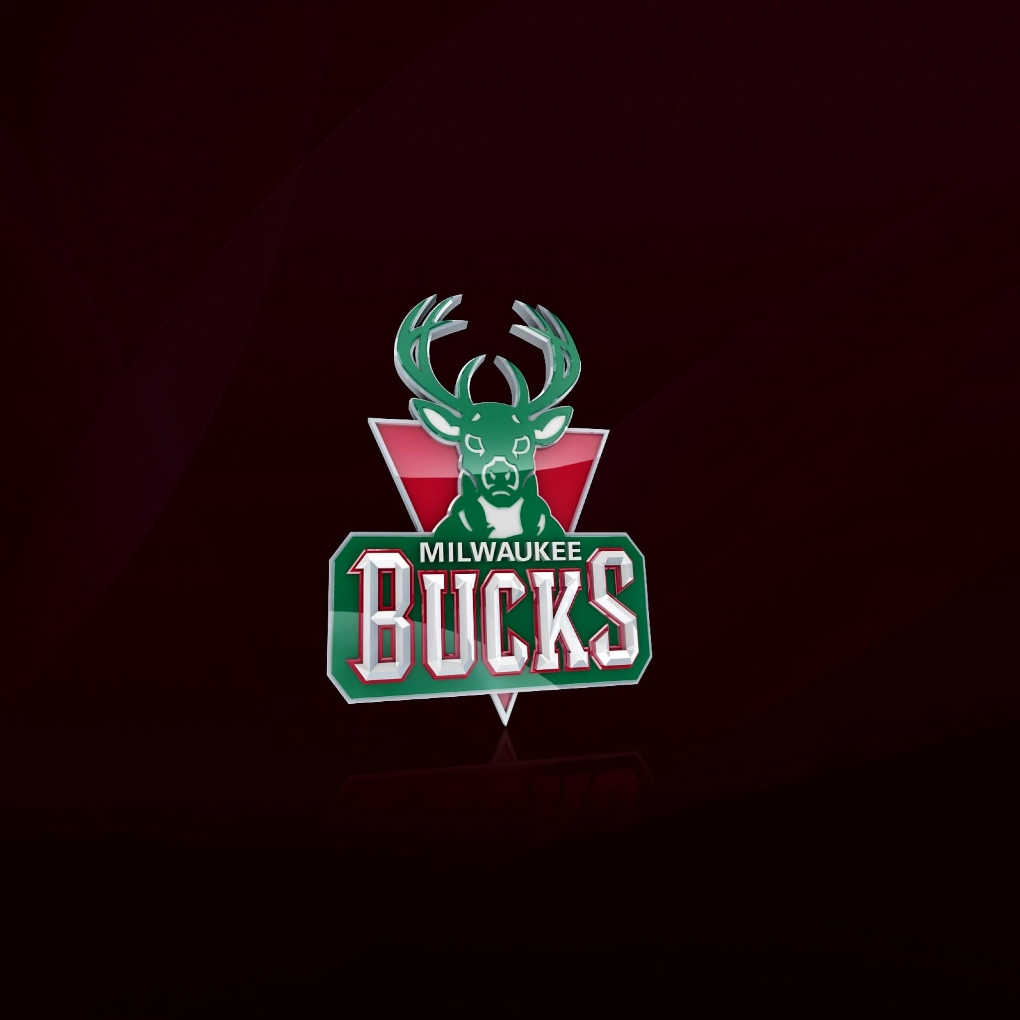 2048x2048 Preview Wallpaper Milwaukee Bucks Nba Basketball Logo Download Brooklyn