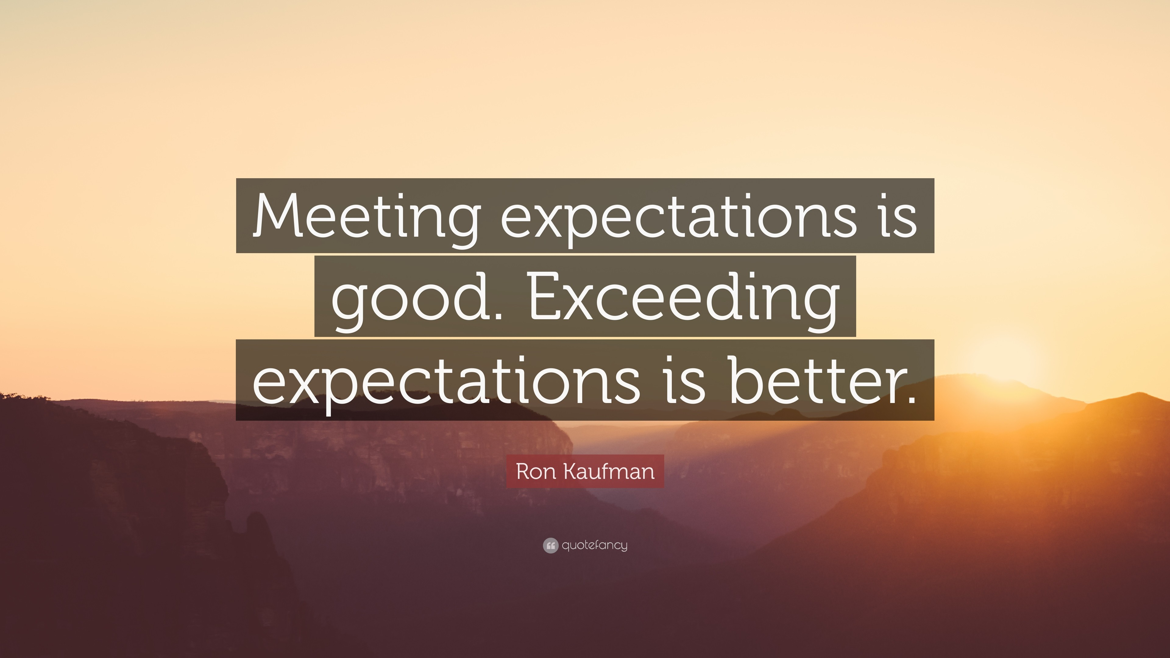 meeting expectation Customer expectation refers to the total perceived benefits a customer expects from a company's product or service if the actual experience customers have with a product exceeds the expectation, they are typically satisfied if the actual performance falls below the expectation, they are.