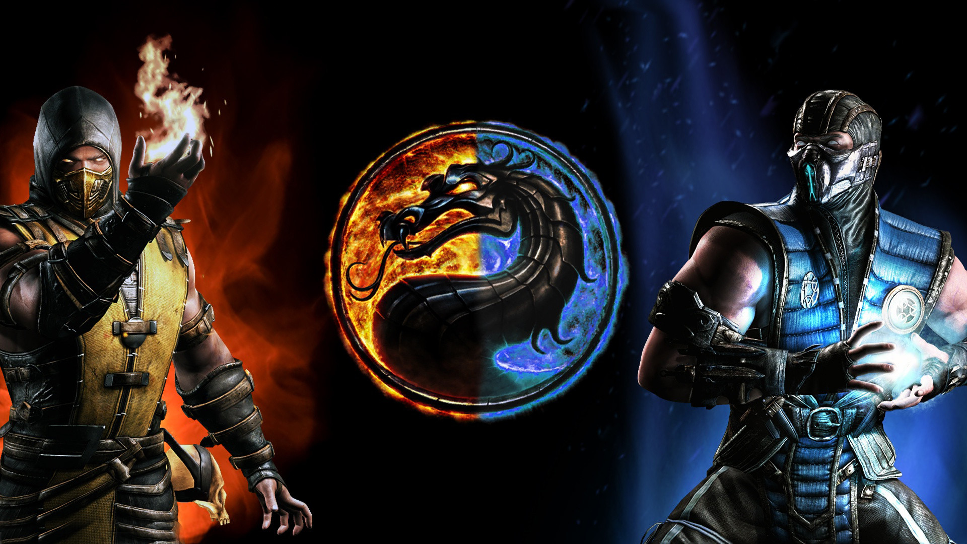 Mortal kombat scorpion vs sub zero wallpaper wallpapertag - Mortal kombat scorpion wallpaper ...